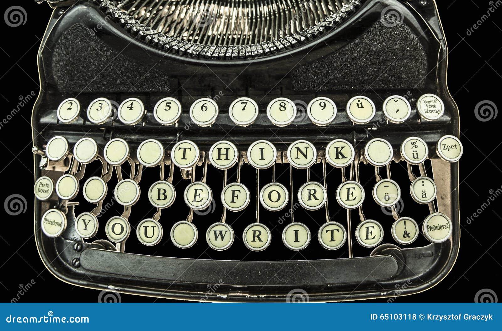Satz: Denken Sie, bevor Sie schreiben