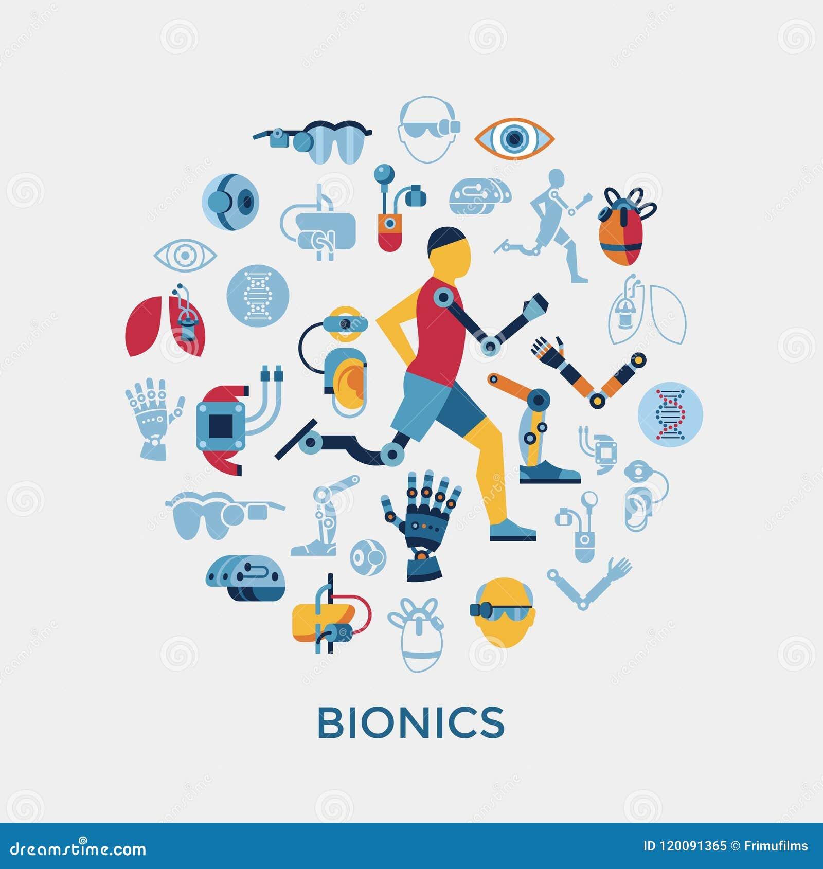 Satz der Bionik und der Ikone der künstlichen Intelligenz