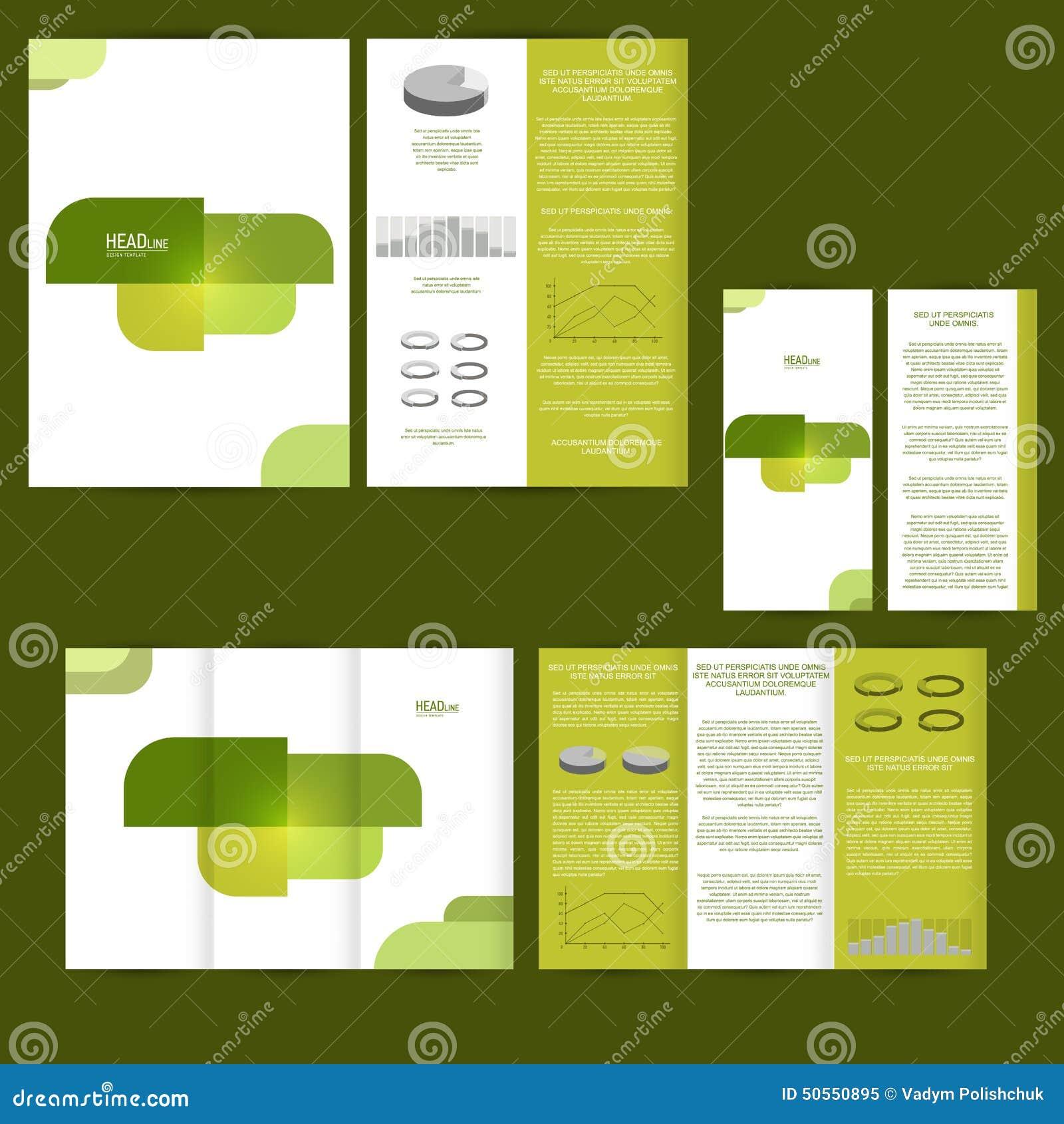 Satz Der Designschablone Mit Flieger, Plakat, Broschüre Für Die ...