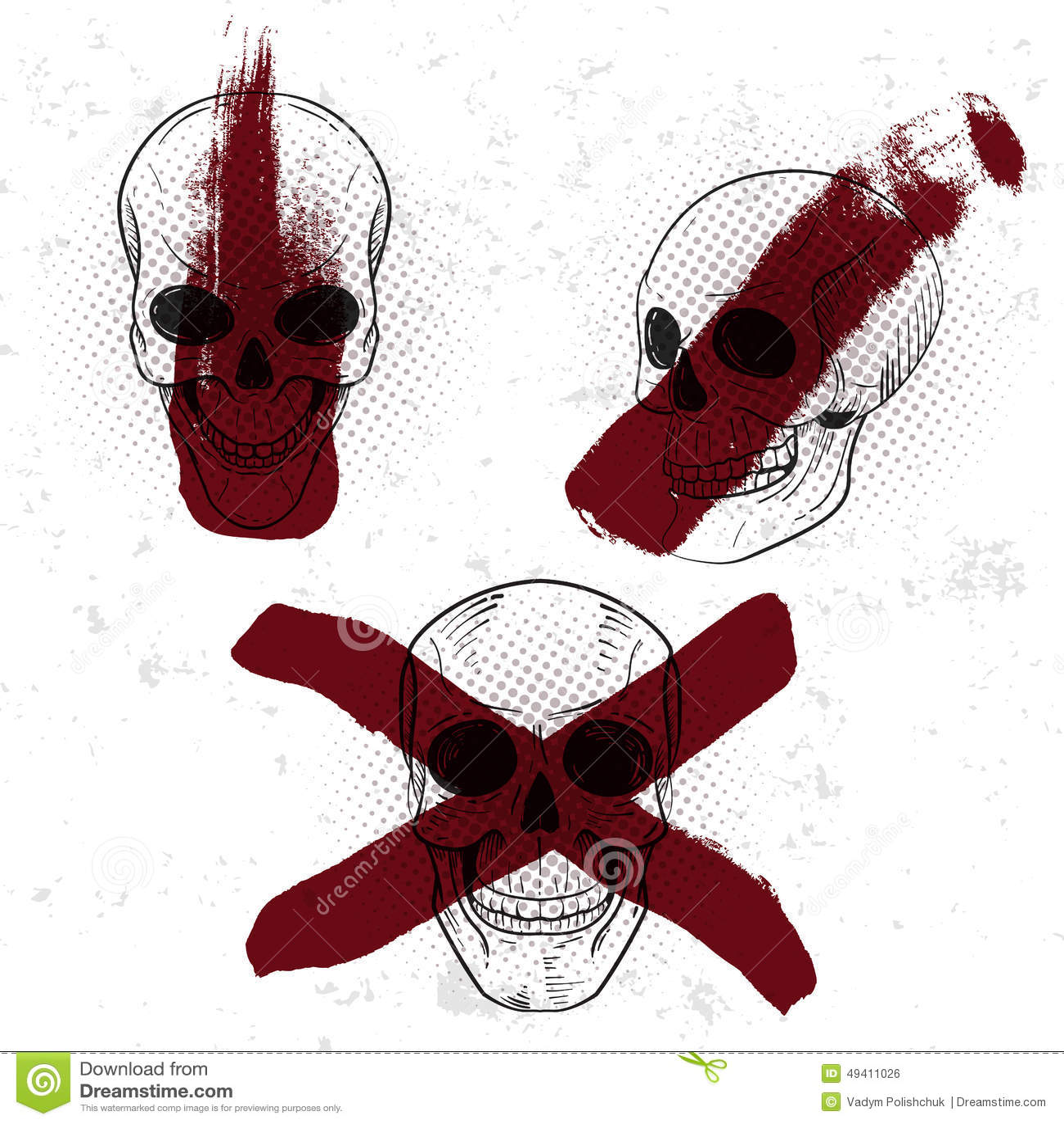 Download Satz Des Retro- Weinleseausweises, -symbols Oder -firmenzeichens Mit Dem Schädel Vektor Abbildung - Illustration von zeichnung, furcht: 49411026