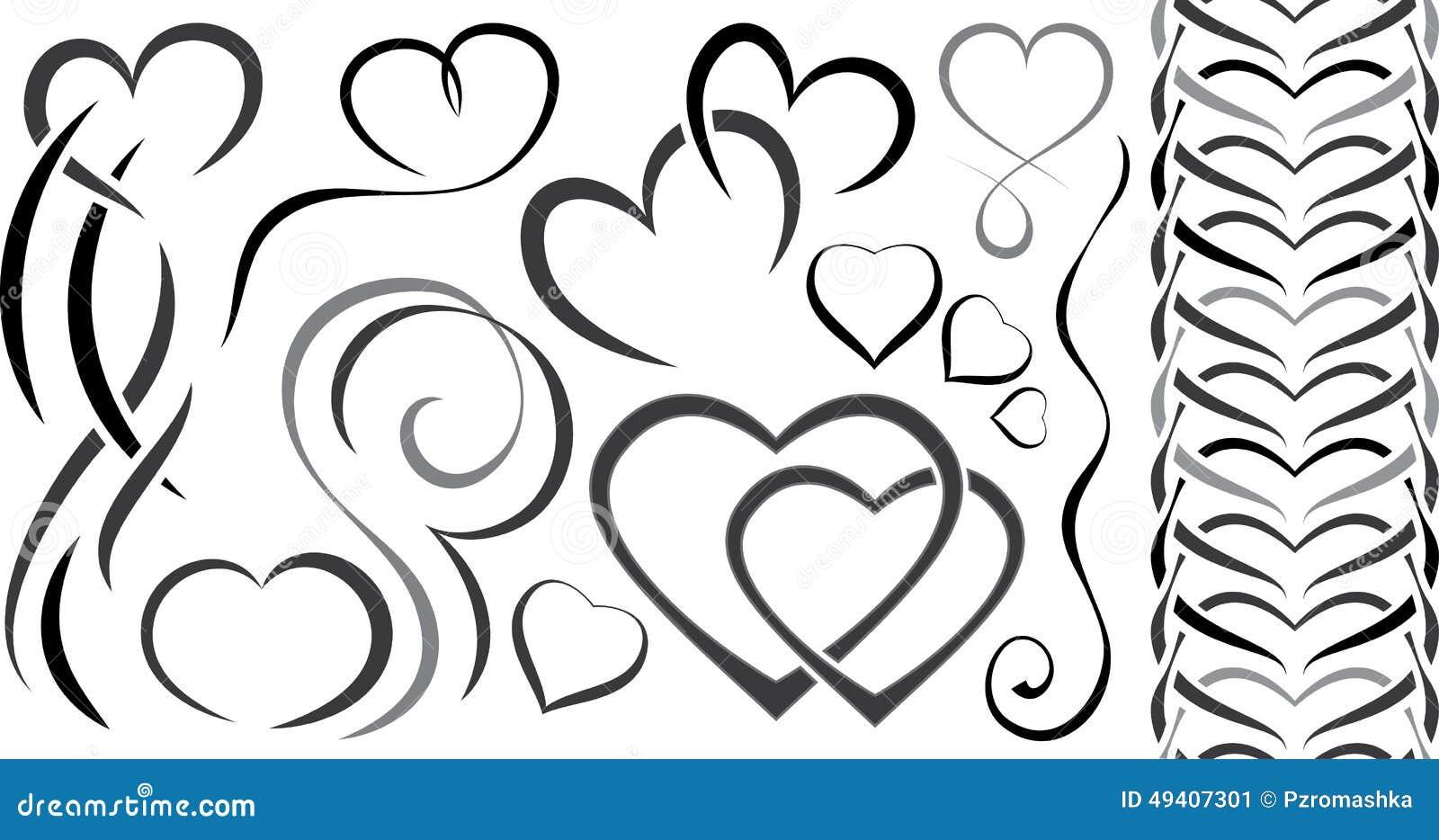 Download Satz Elementdesign Für Valentinstag Innere Vektor Abbildung - Illustration von feier, romantisch: 49407301