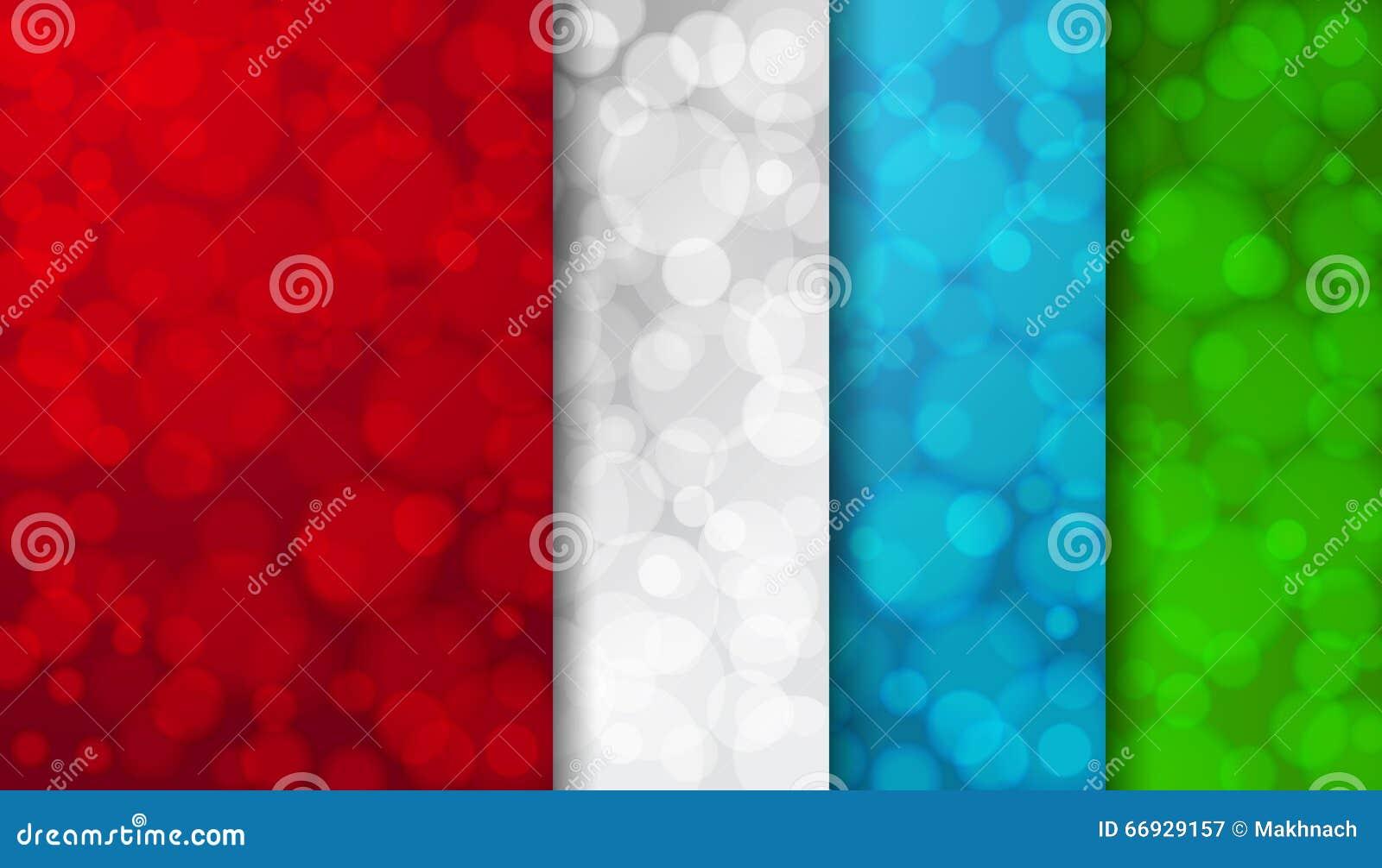 Satz farbige unscharfe Hintergründe mit twinkly Lichtern