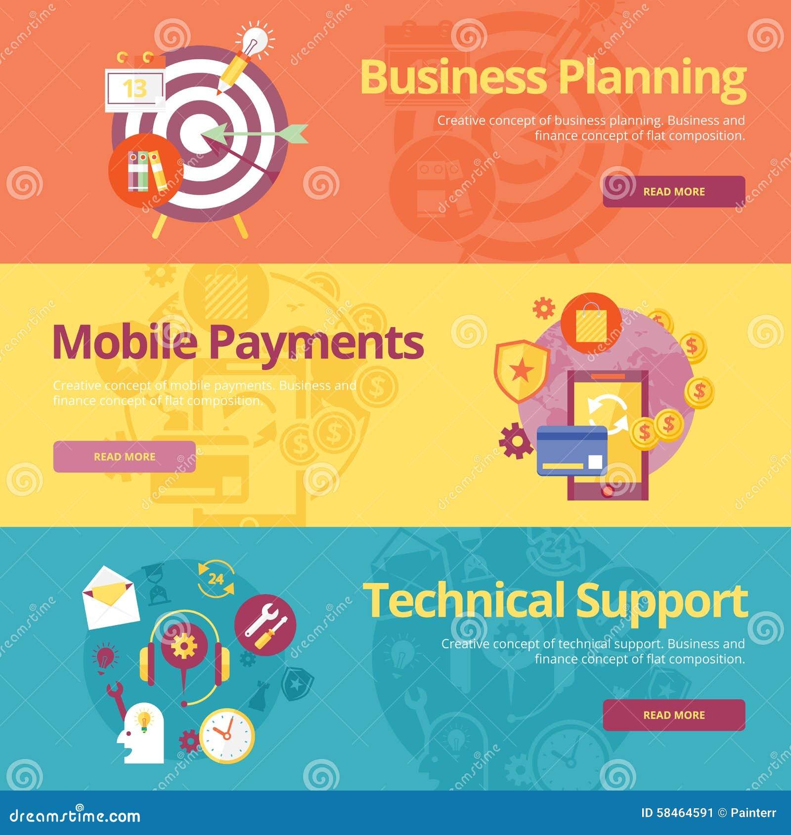 Satz flache Konzepte des Entwurfes für Unternehmensplanung, bewegliche Zahlungen, technische Unterstützung