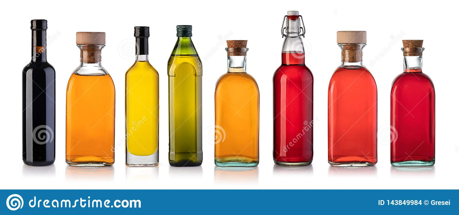Satz Flaschen