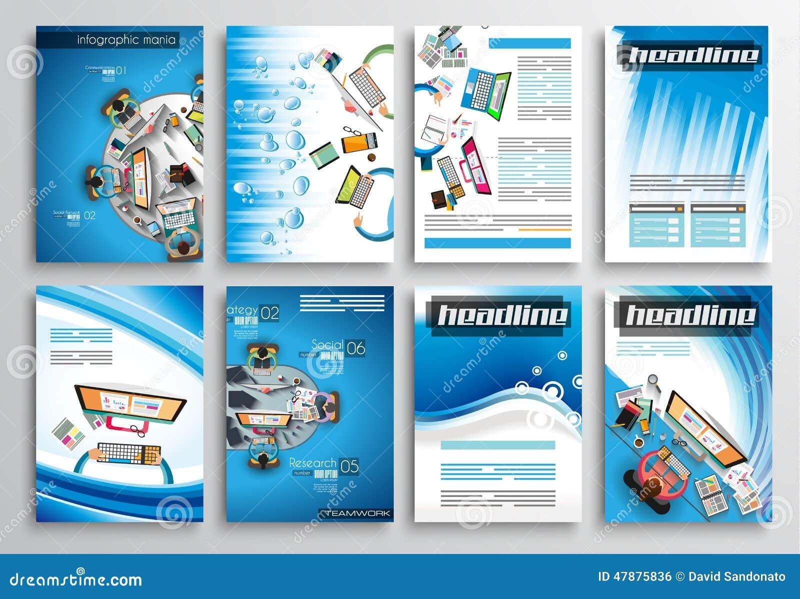 Satz Flieger-Design, Infographic-Schablonen Broschüren-Designe
