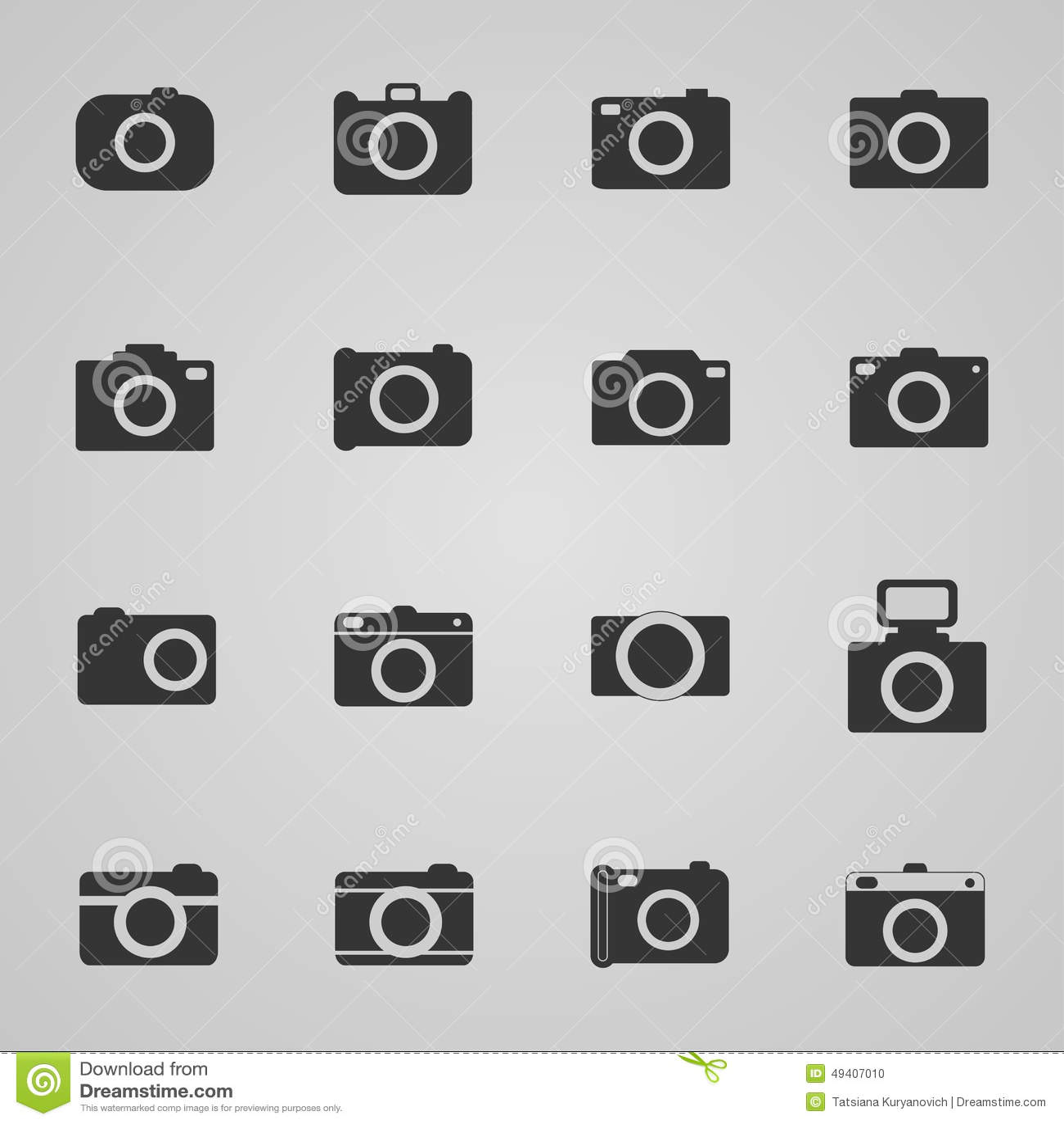 Download Satz Fotoikonen, Illustration Vektor Abbildung - Illustration von kennsatz, taste: 49407010