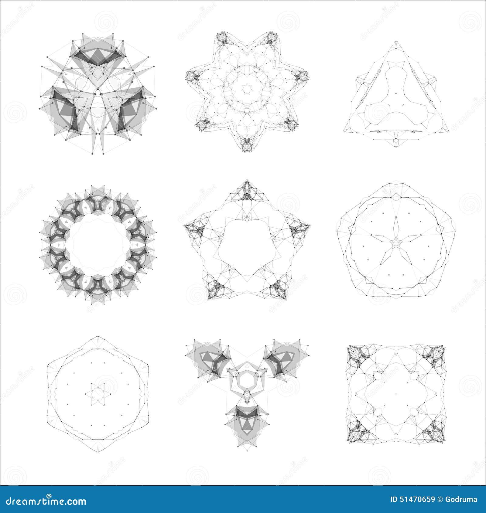 satz geometrische formen lowpoly formen dreiecke vektor abbildung bild 51470659. Black Bedroom Furniture Sets. Home Design Ideas