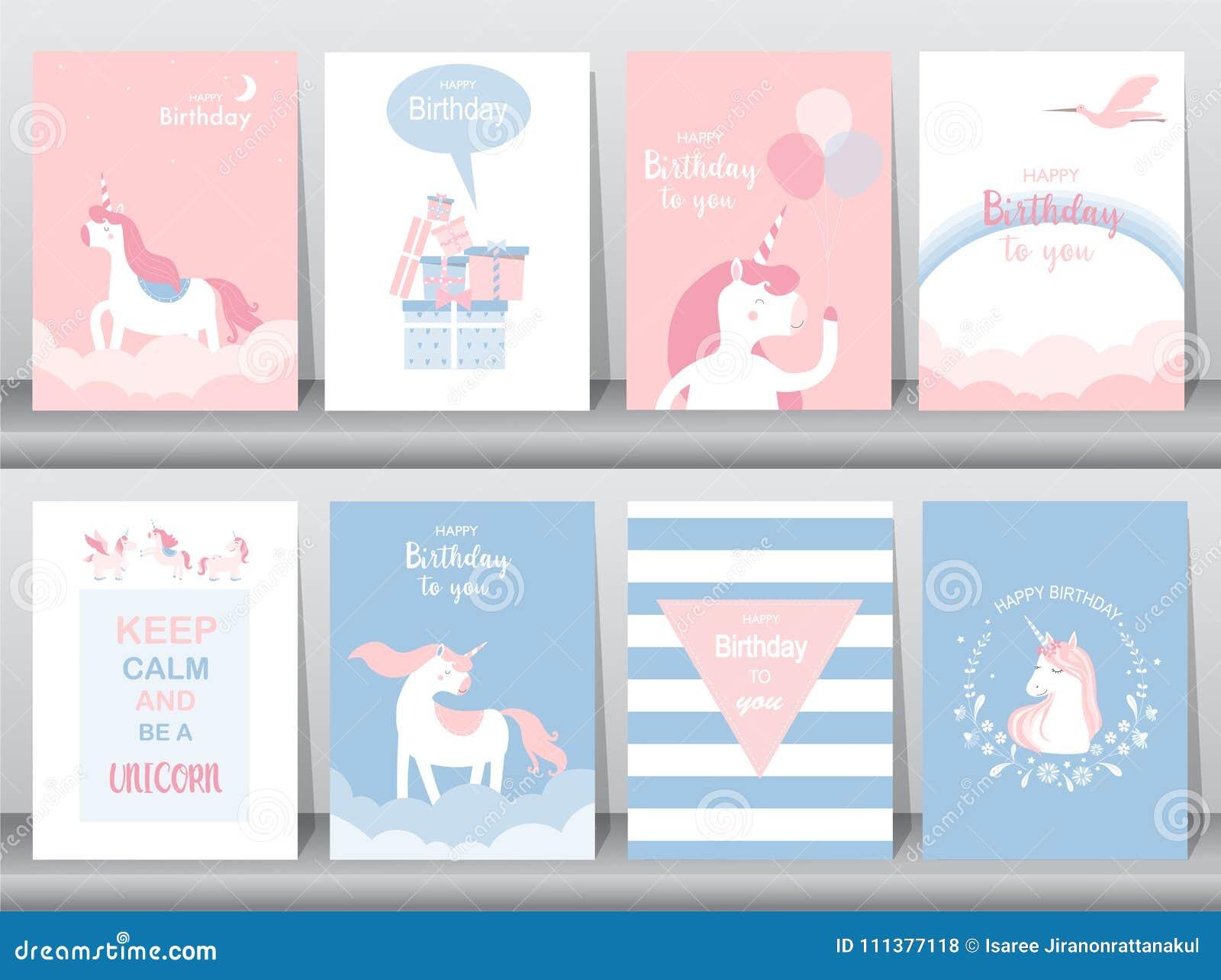 Satz Glückwunschkarten, Plakat, Einladungen, Karten, Schablone ...