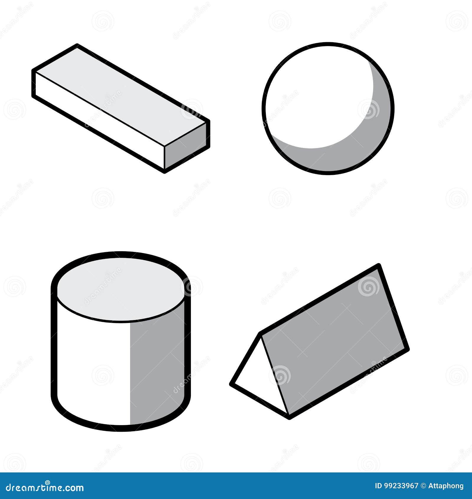 satz grundlegende geometrische formen 3d geometrischer k rpervektor lokalisiert auf einem wei en. Black Bedroom Furniture Sets. Home Design Ideas