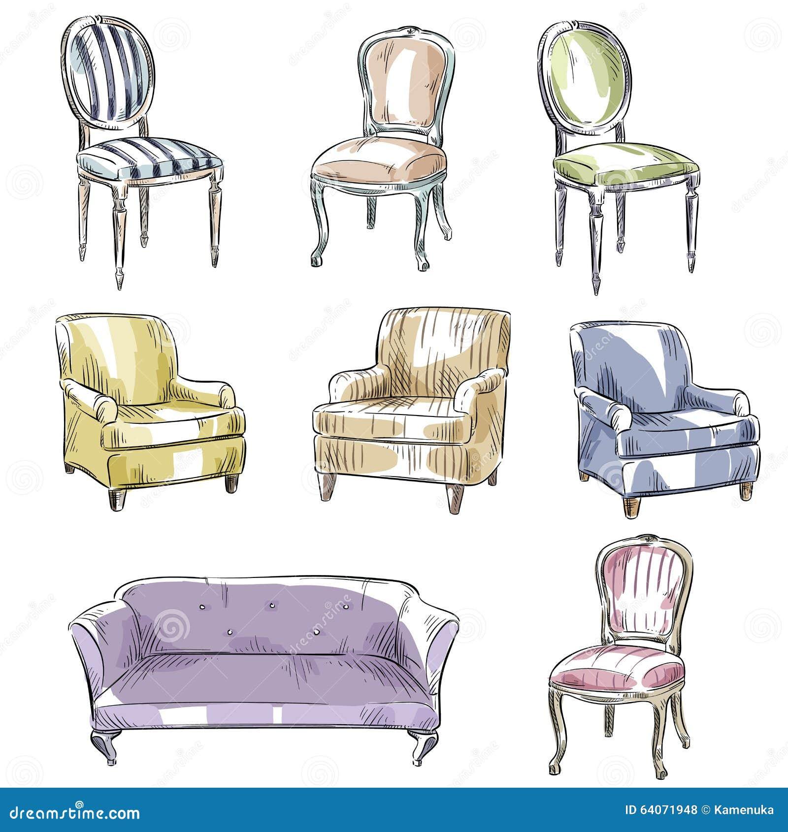 sofa gezeichnet. Black Bedroom Furniture Sets. Home Design Ideas