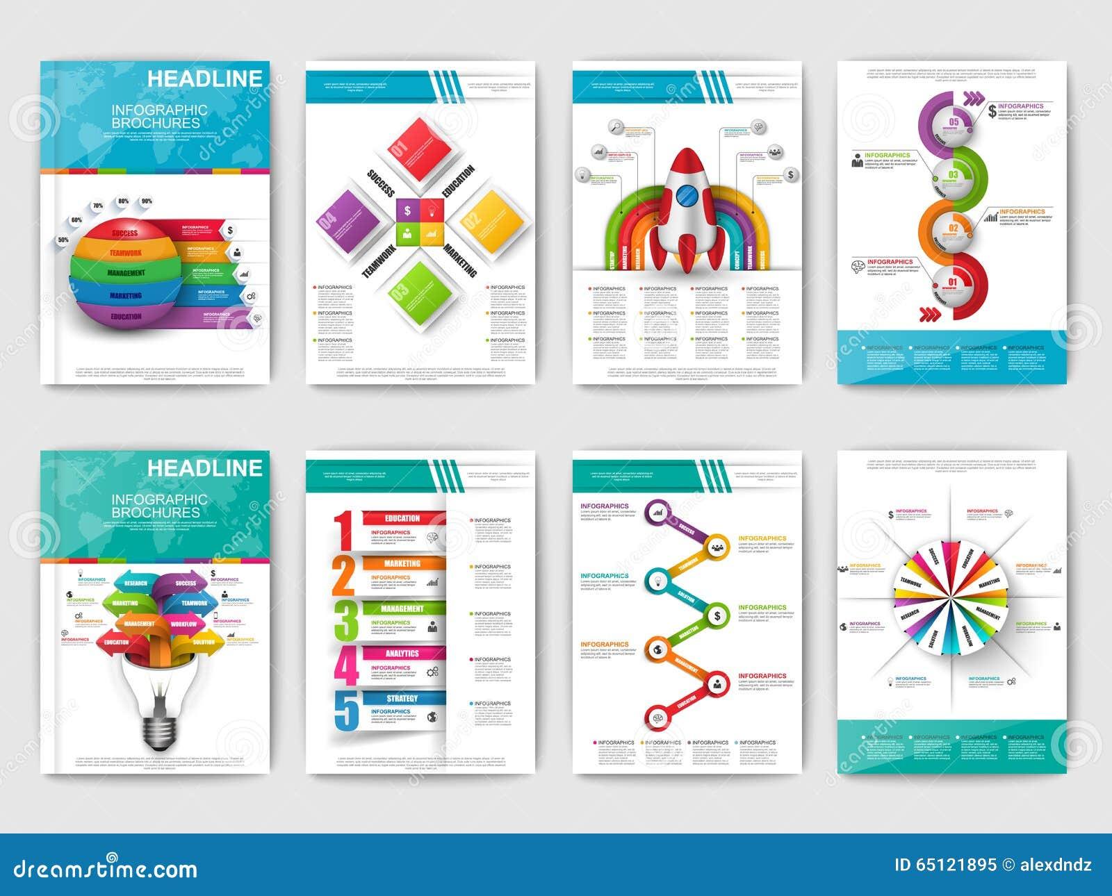 Satz Infographic-Broschüren Moderne Infographic Vektorelemente Für ...