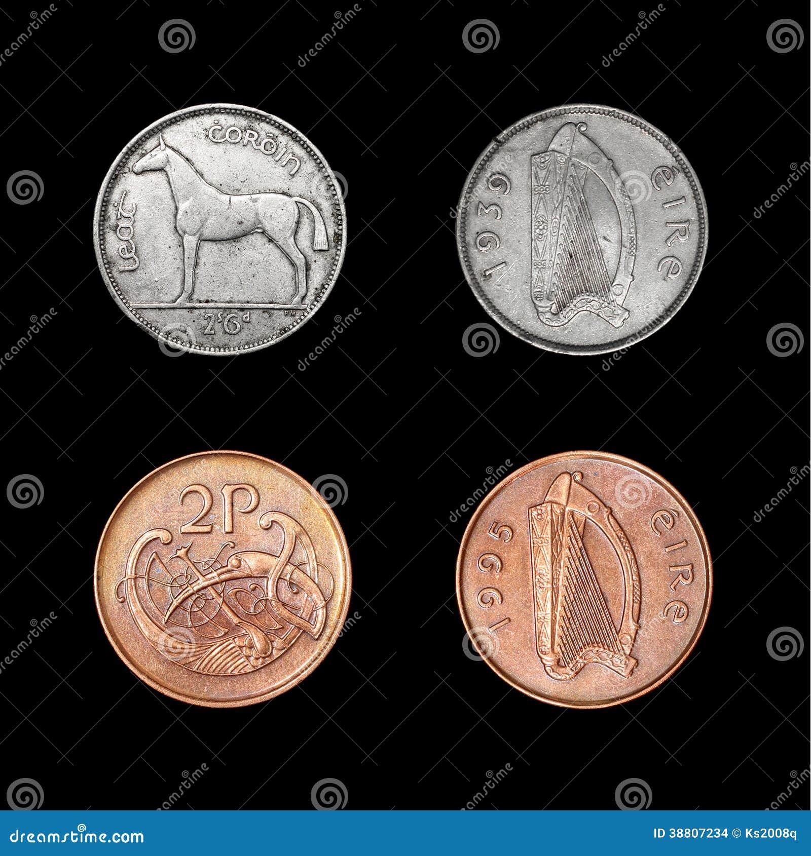 Satz Irland-Münzen