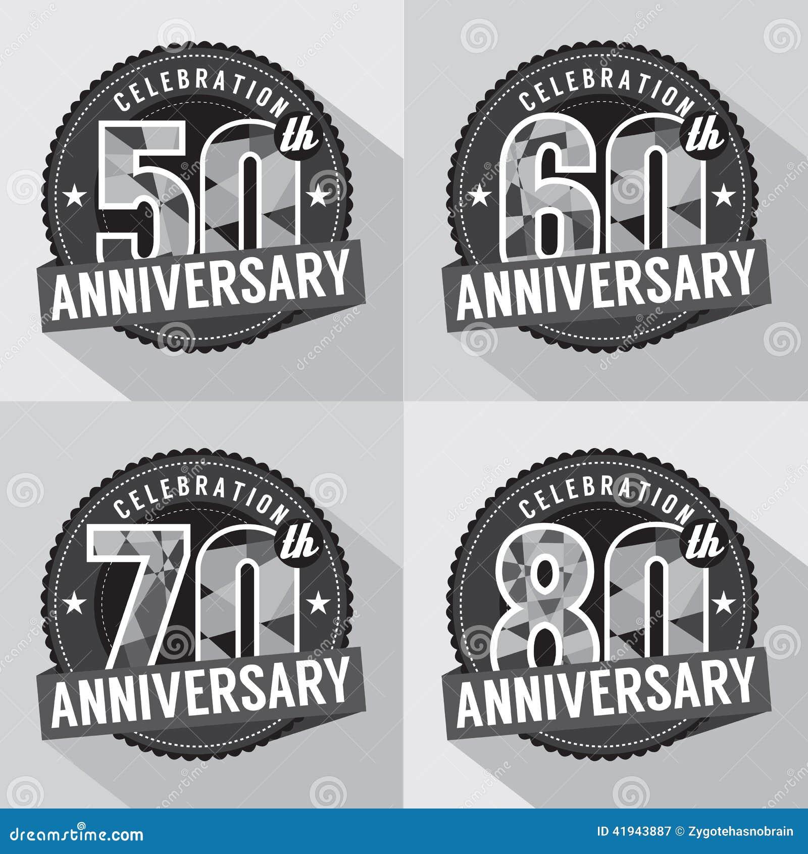 Satz Jahrestags-Feier-Design