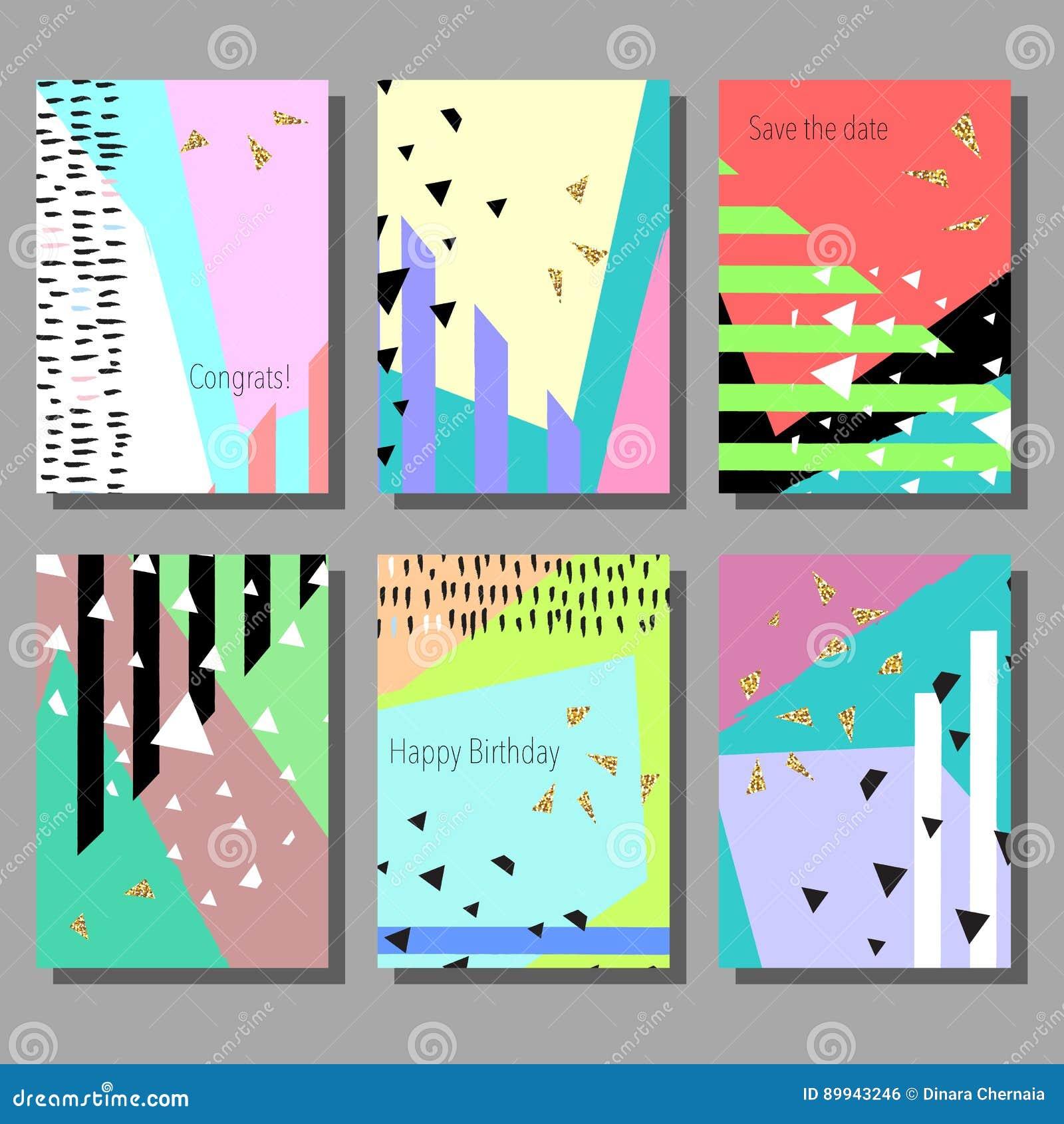 satz künstlerische bunte universalkarten hochzeit, jahrestag, Einladung