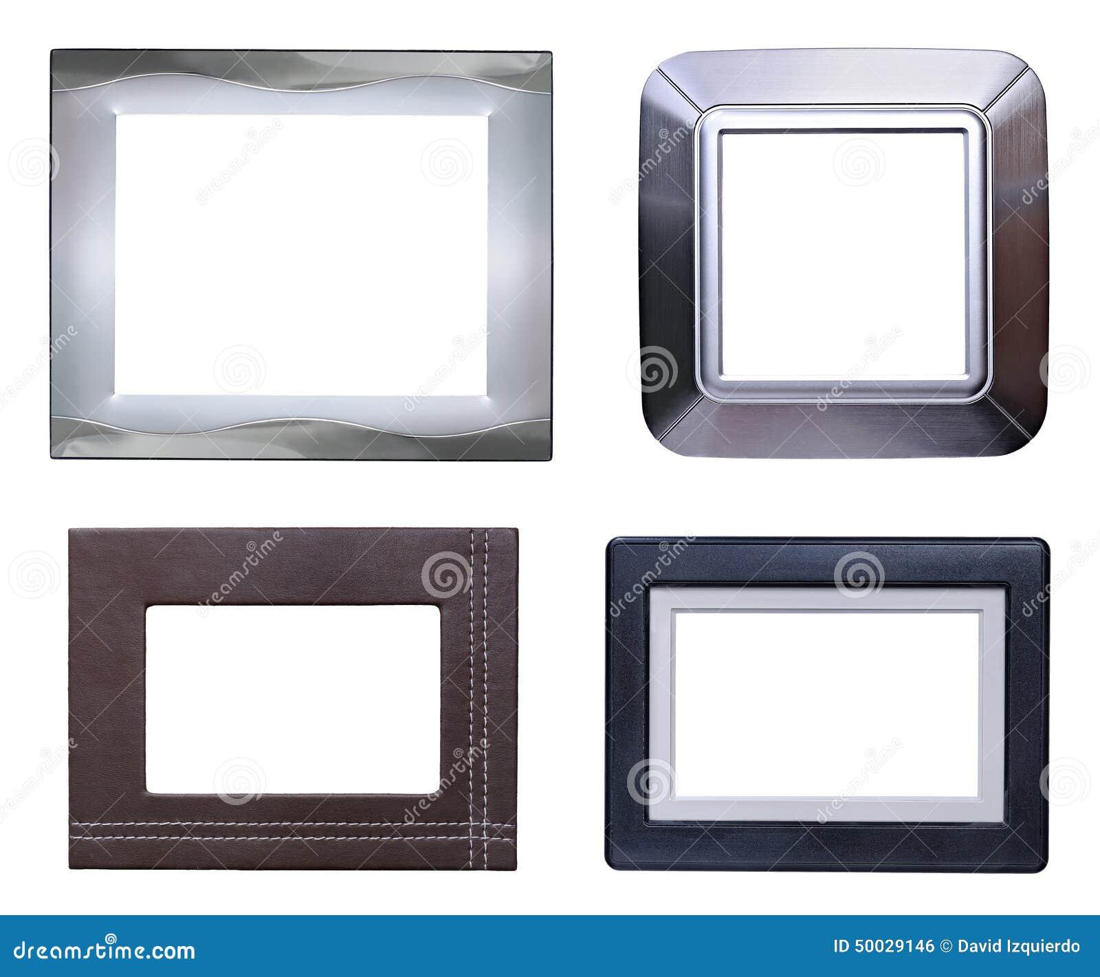 Satz Mit Vier Moderner Bilderrahmen Stockfoto - Bild von grunge ...