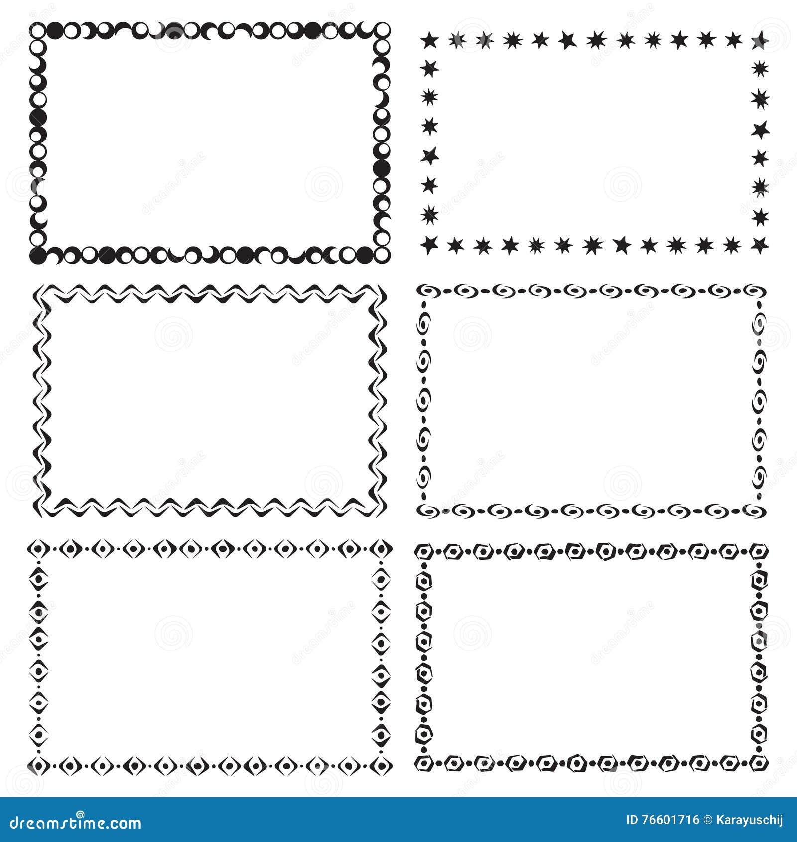 Satz moderne Rahmen vektor abbildung. Illustration von modern - 76601716
