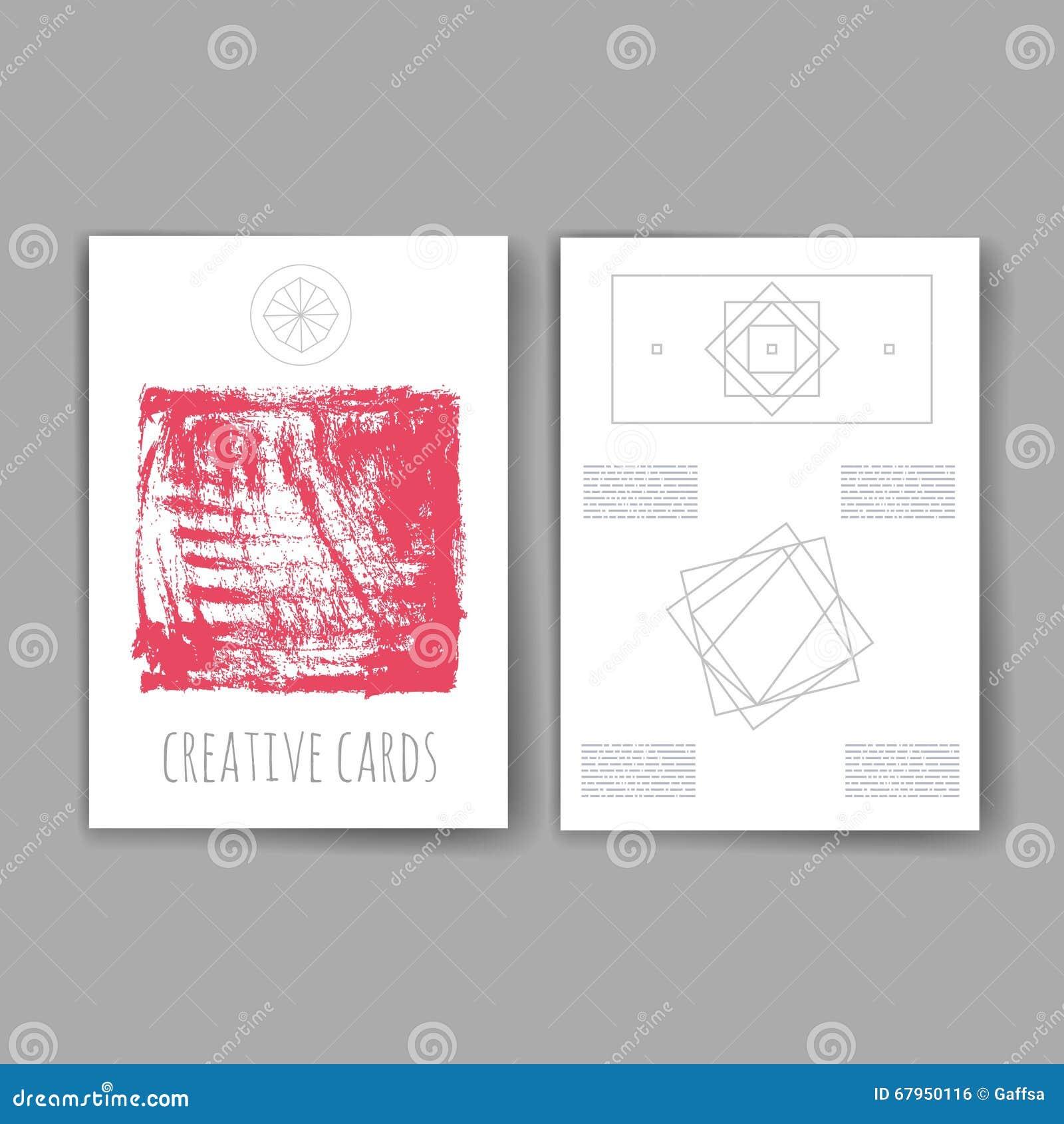Satz Modische Abstrakte Karten Mit Mystischen Logos Moderne Hippie ...