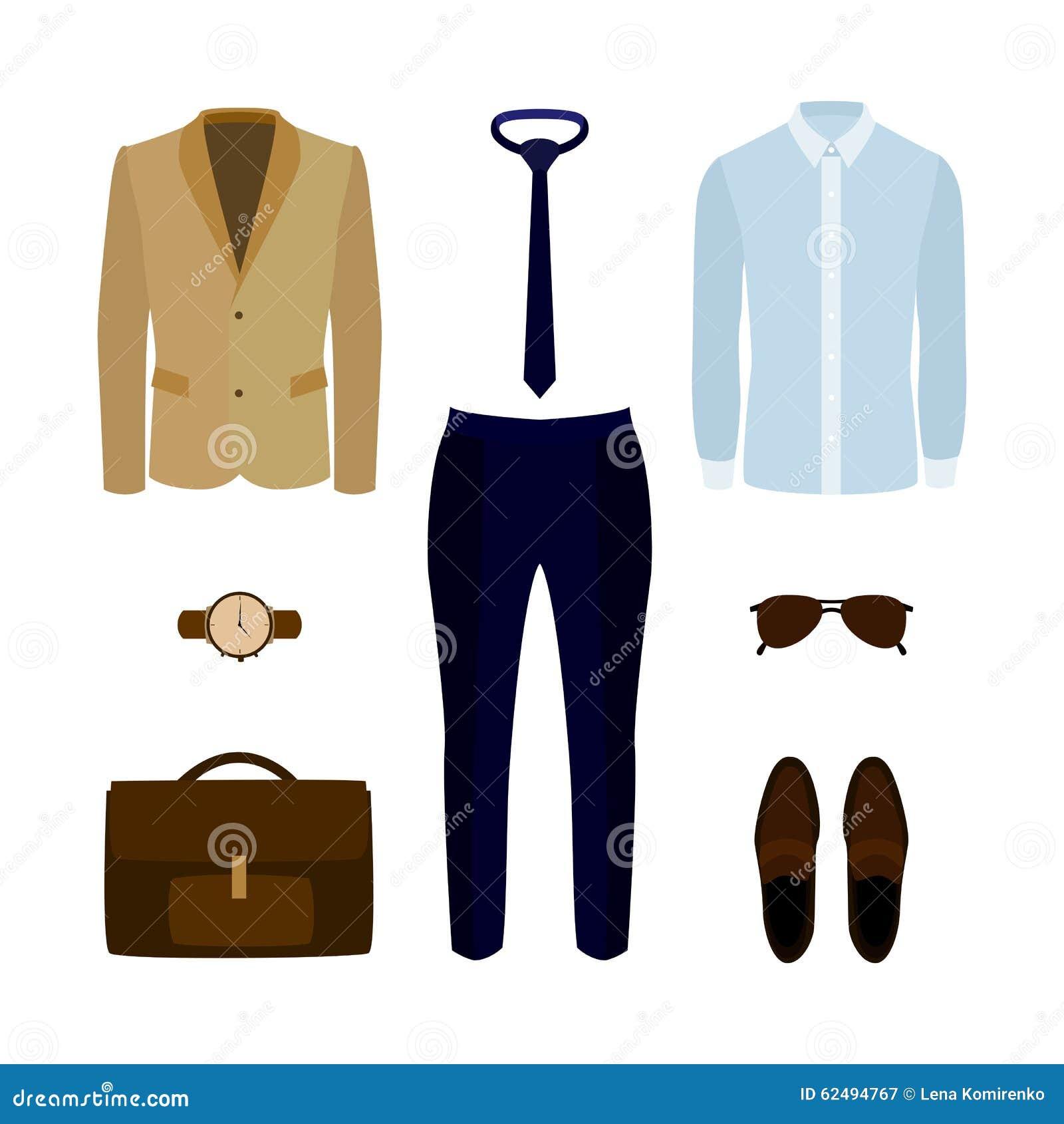 new products 9ef44 5e73b Satz Modische Kleidung Der Männer Mit Hosen, Hemd, Jacke Und ...