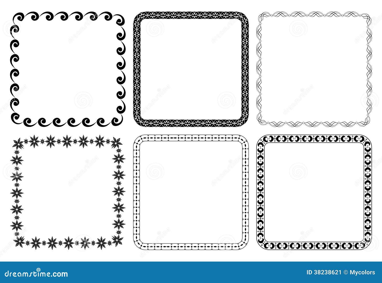 Satz Rahmen - Vektorquadrate Vektor Abbildung - Illustration von ...