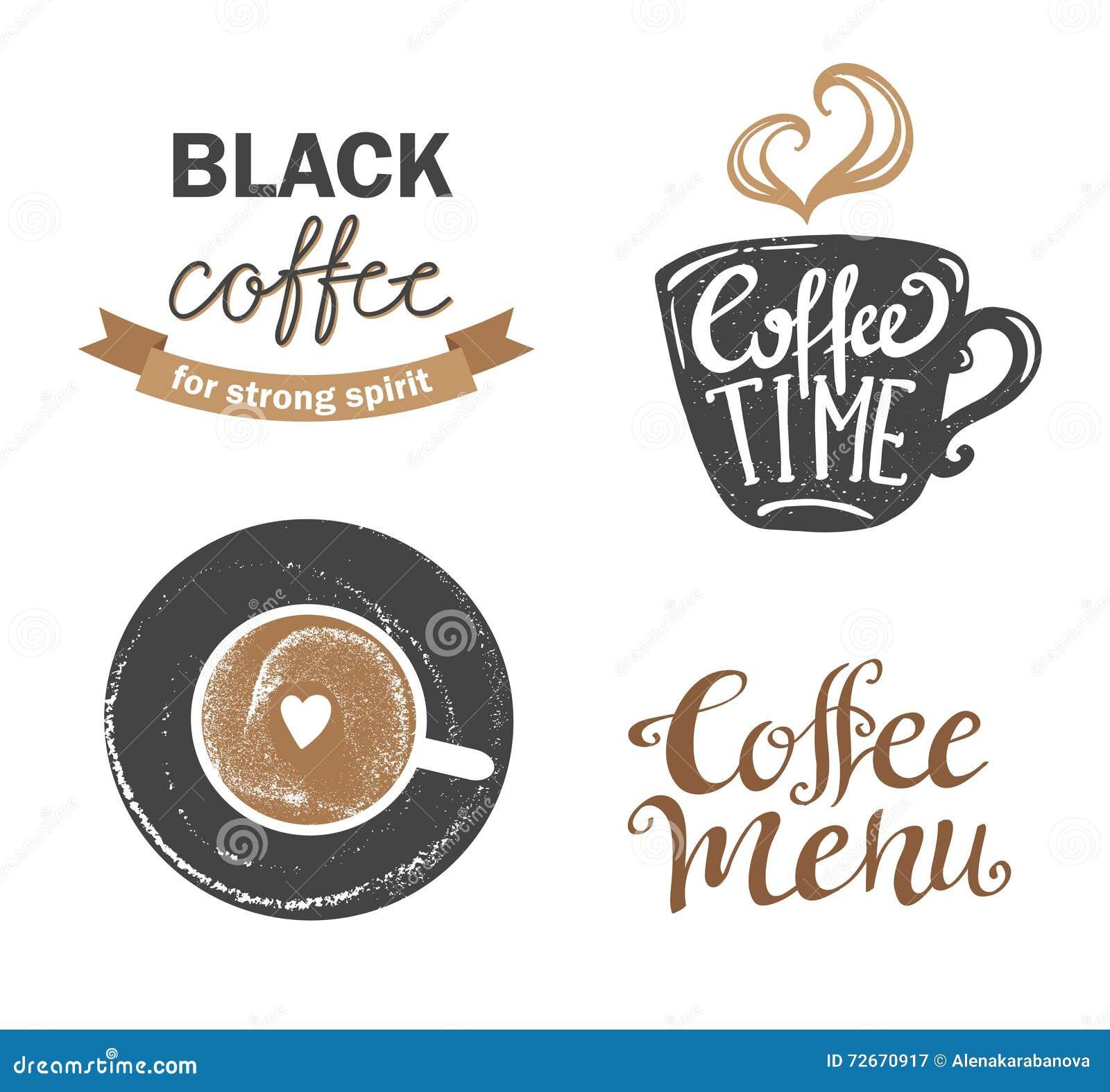 Satz Retro- Kaffee der Weinlese wird und Aufkleber deutlich Auch im corel abgehobenen Betrag