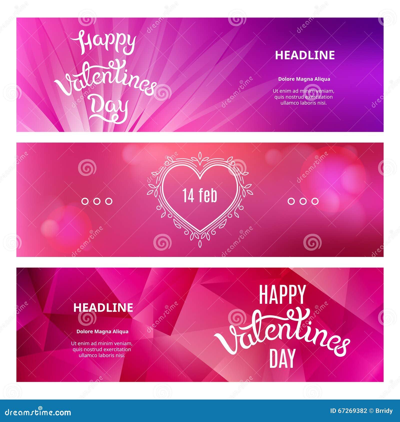 Satz Schöne Fahnen An St. Valentinstag
