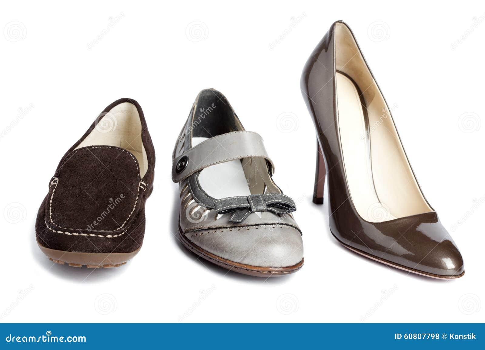 Satz Schuhe Der Standardfrauen Kein Name Stockfoto Bild Von