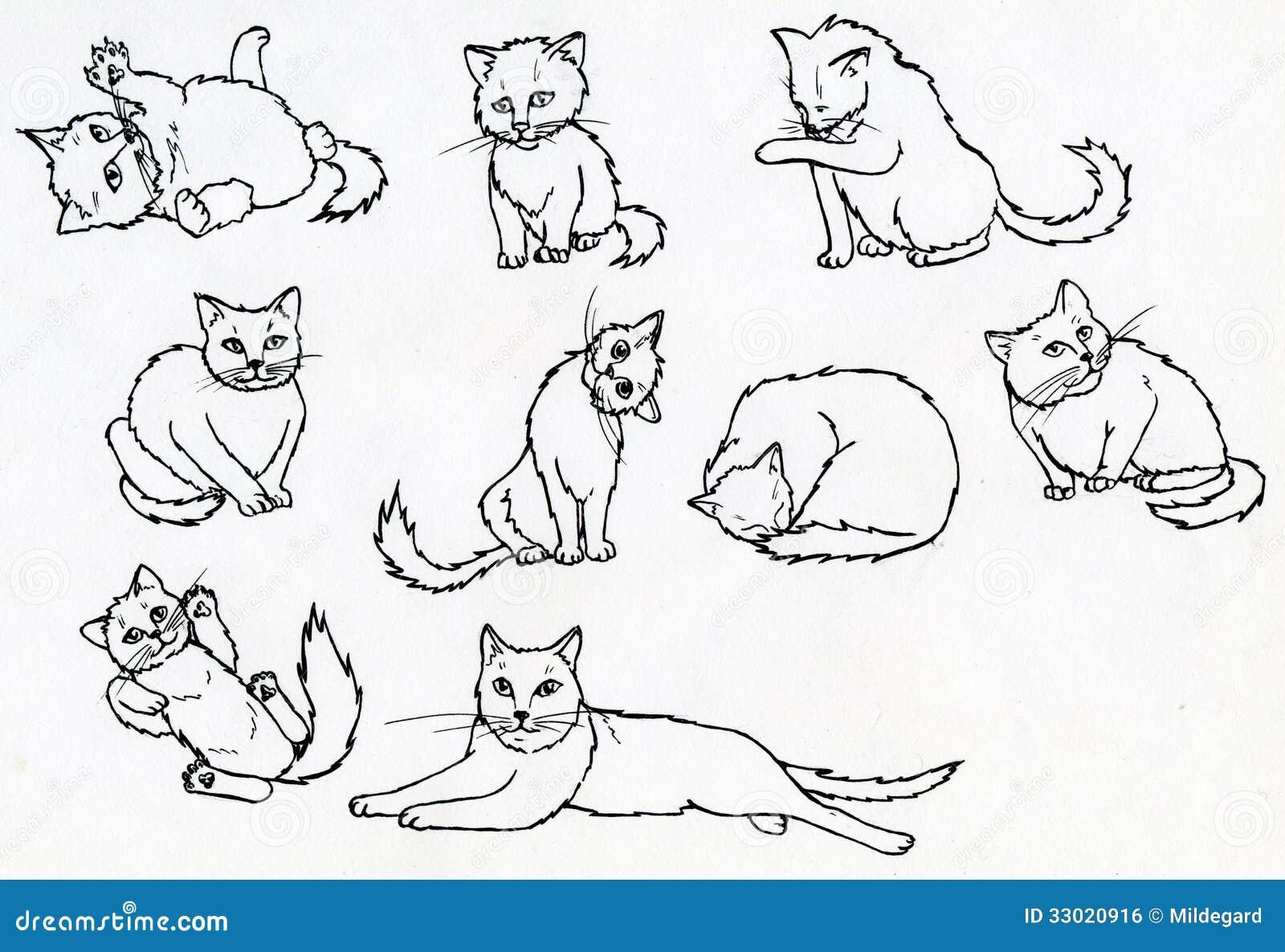 Cat Walking Position Base Warrior Cat