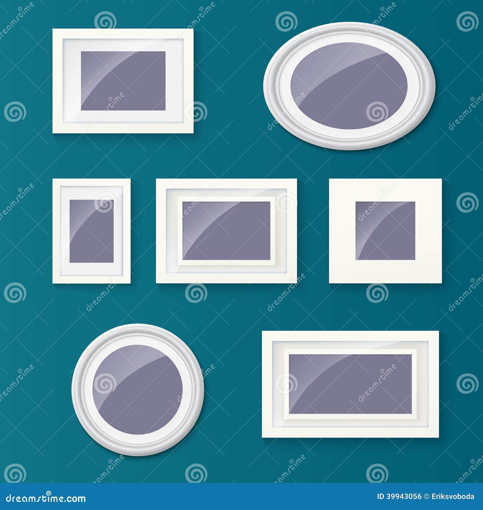 satz verschiedene bilderrahmen und bilder vektor abbildung bild 39943056. Black Bedroom Furniture Sets. Home Design Ideas