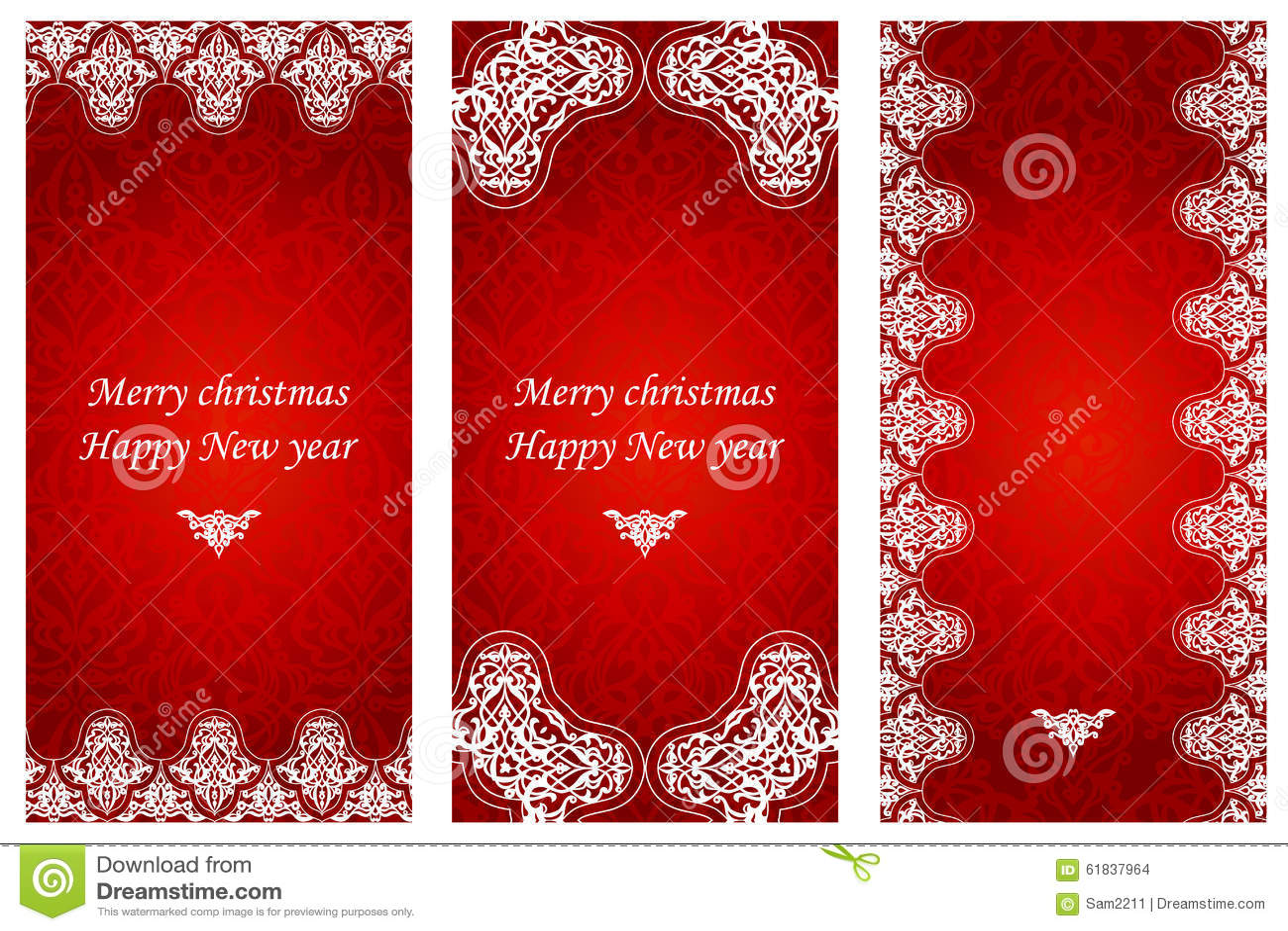 Weihnachtskarten Einladung.Satz Weihnachtskarten Im Viktorianischen Stil Stock Abbildung