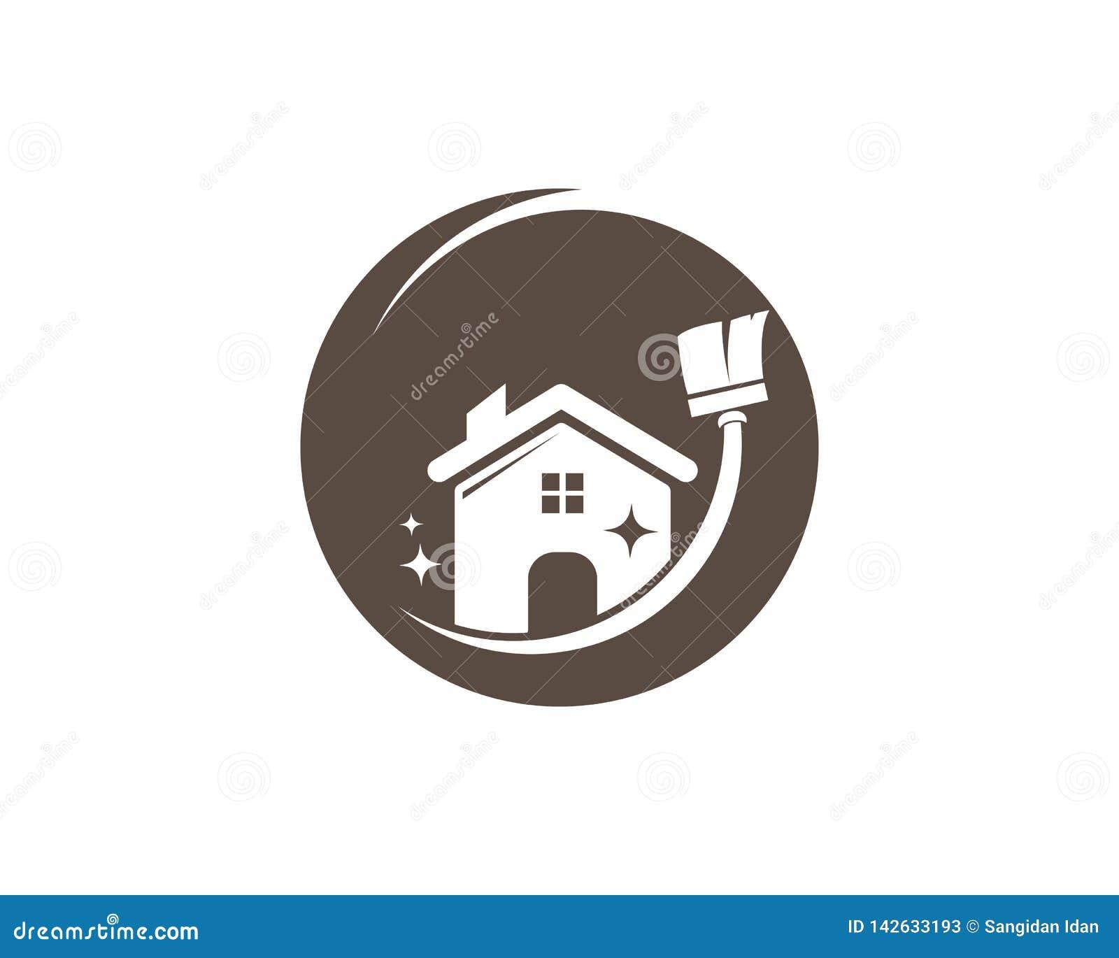 Saubererer Logovektor des Hauses