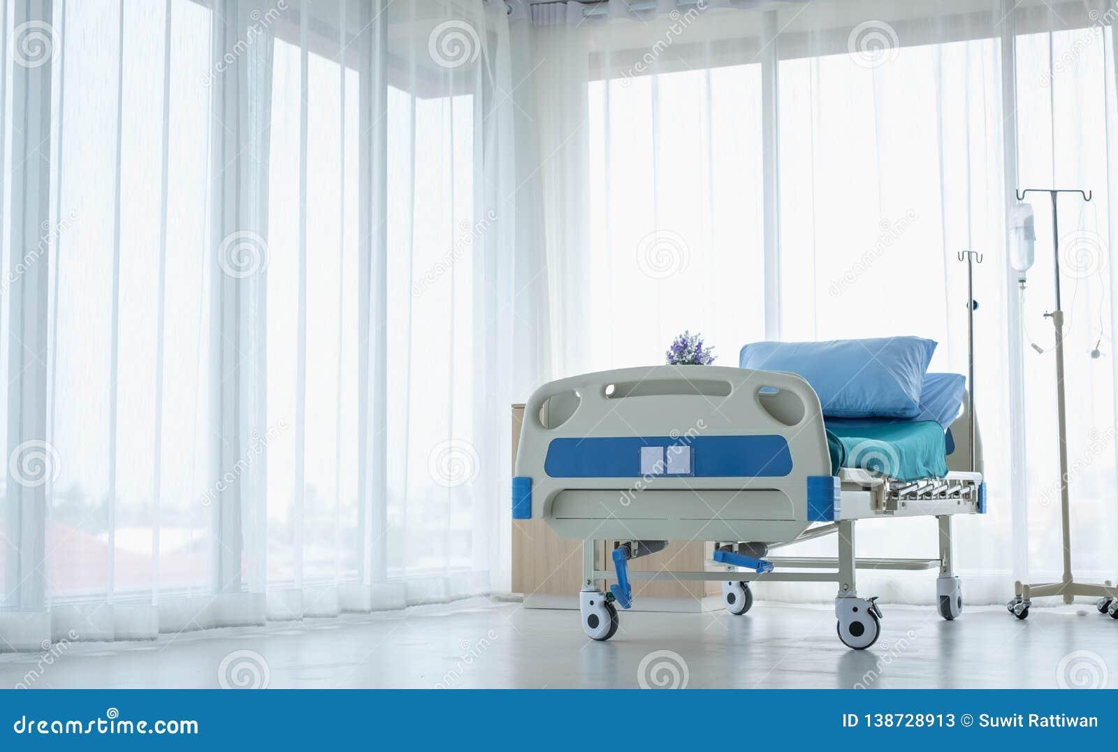Sauberes und vollausgebautes Krankenhauszimmer