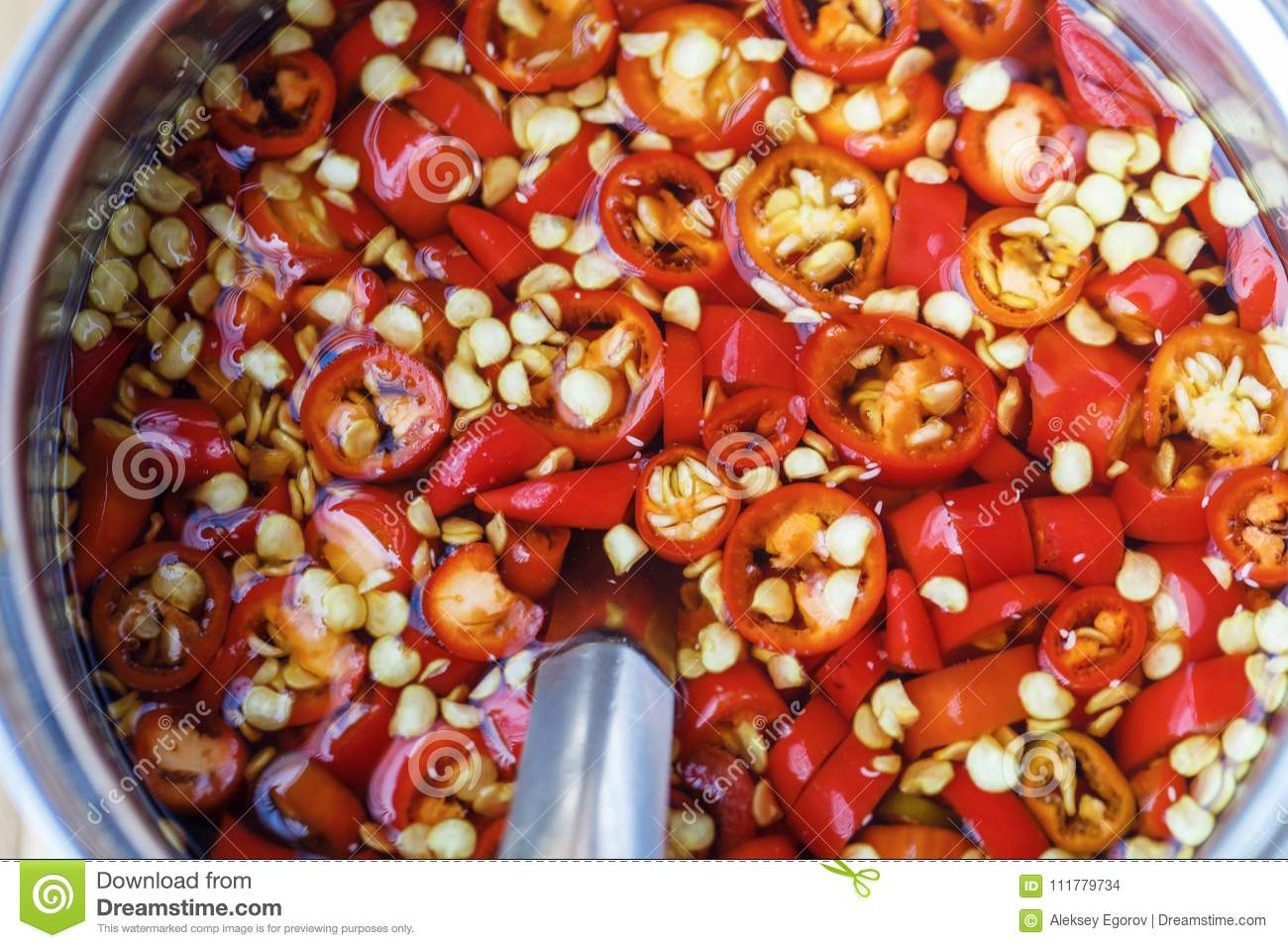 Sauce of red chili pepper