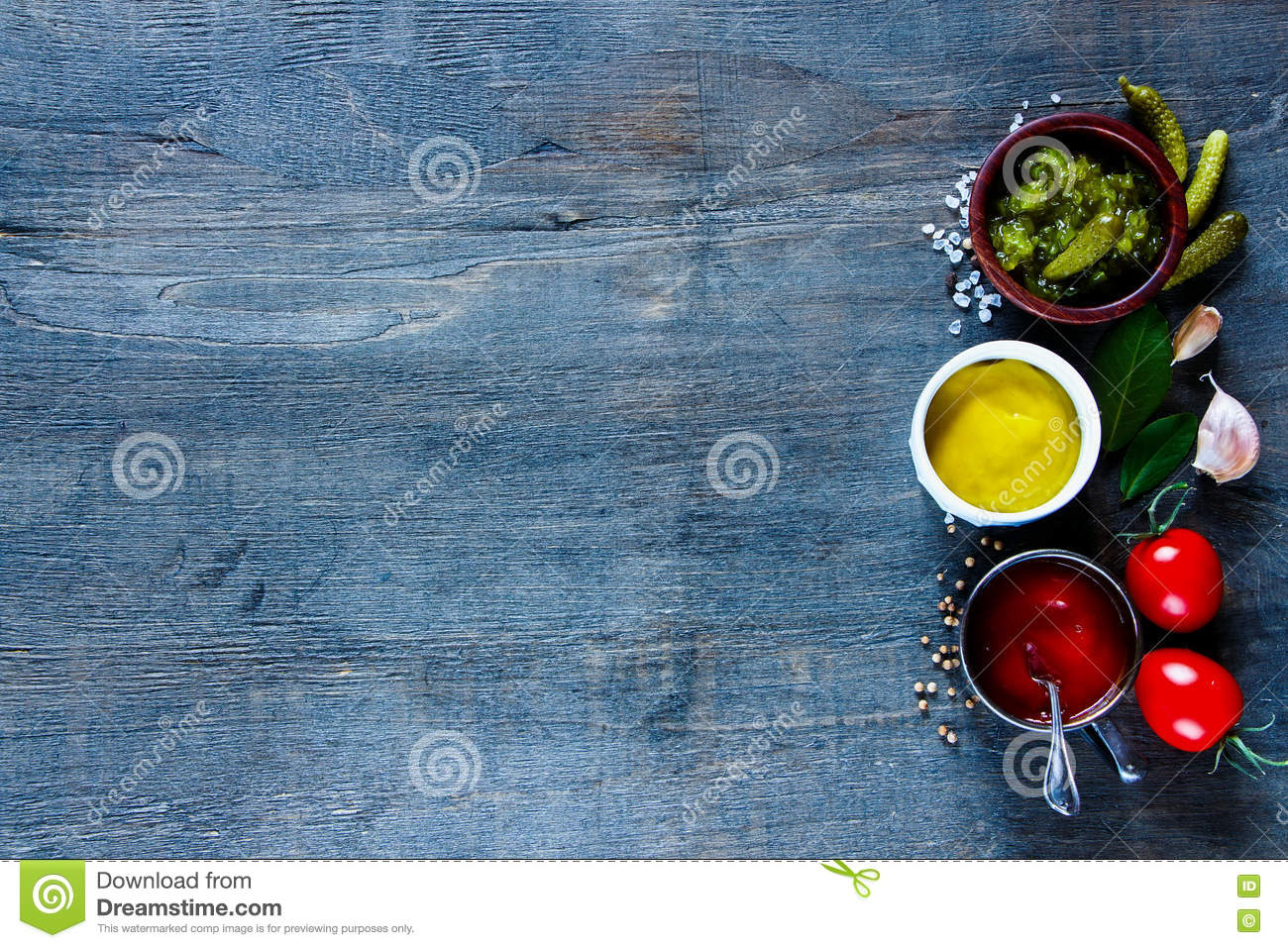 Sauces With Herbs And Spices Stock Image - Image of abstract ...