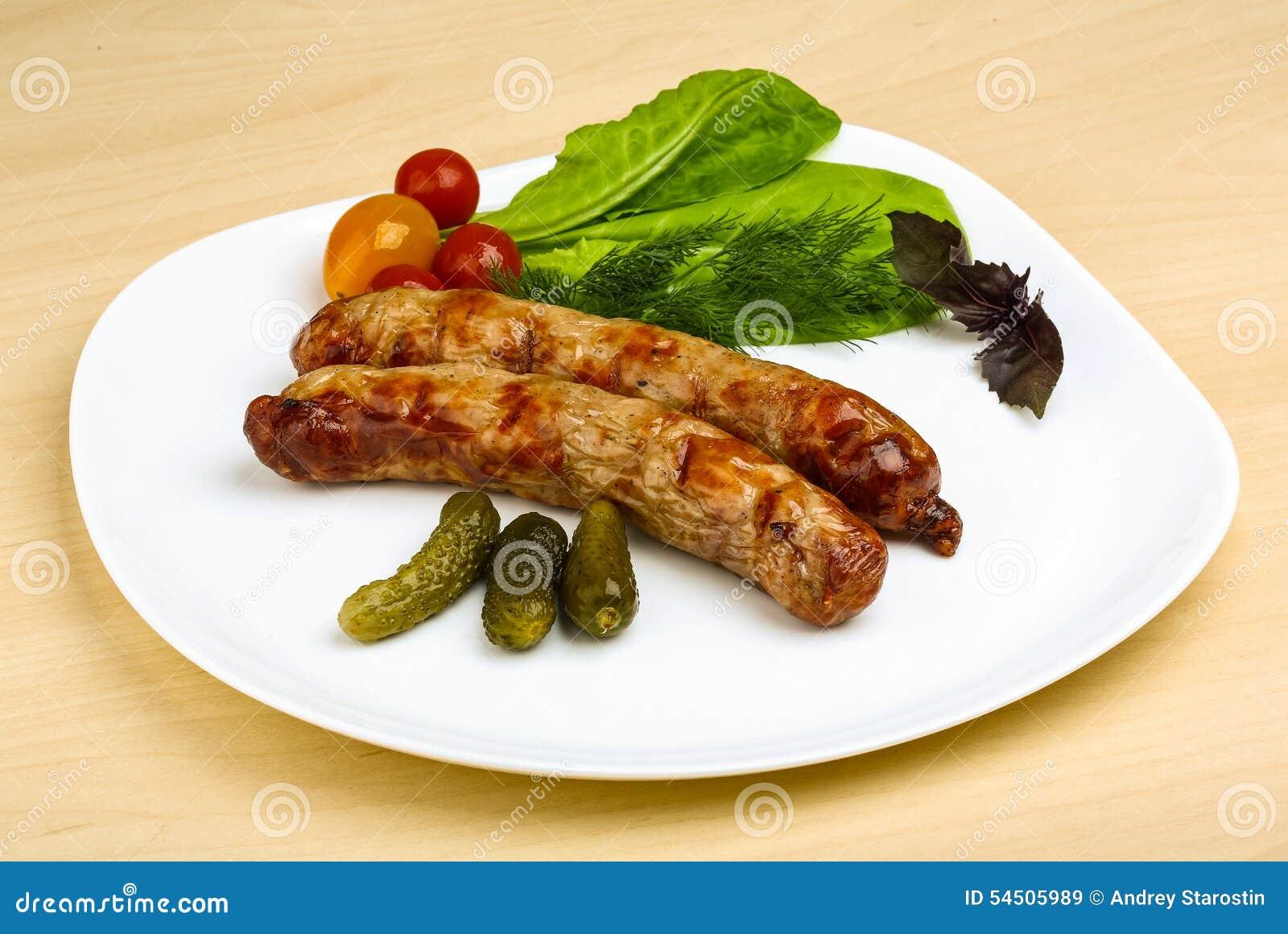 Saucisses grillées