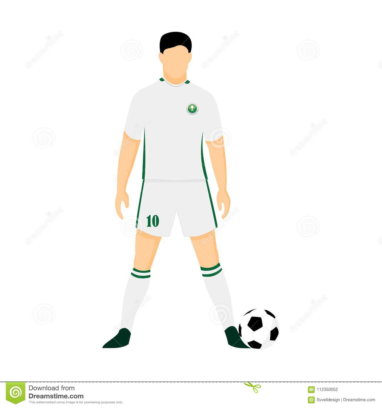 ede5a3dc3 Saudi Arabia Football Jersey National Team World Cup Vector Illustration  Graphic Design
