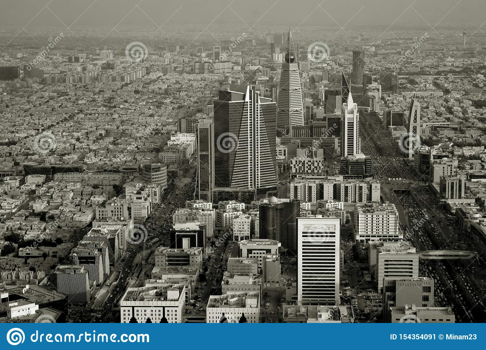 Saudi Arabia Riyadh Or Riad The View From The Top City Panorama Editorial Photo Image Of Evening Haram 154354091