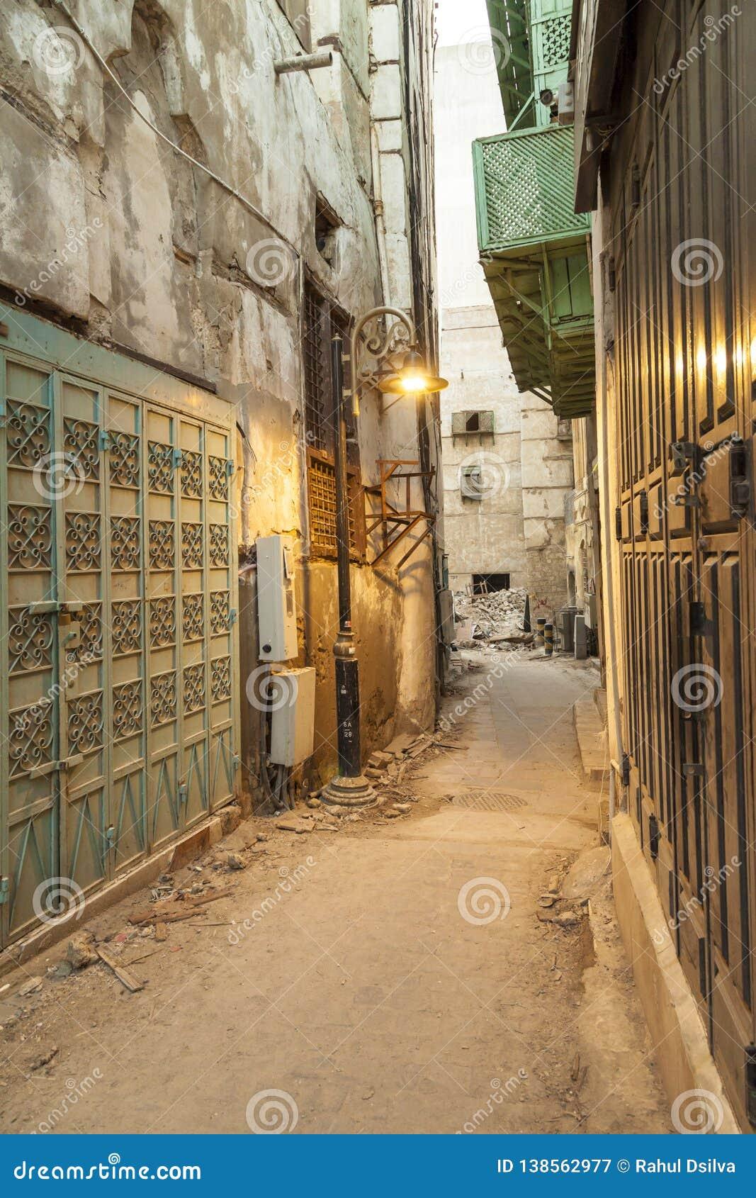Saudi Jeddah February 1 2019 Old City In Jeddah Old City In
