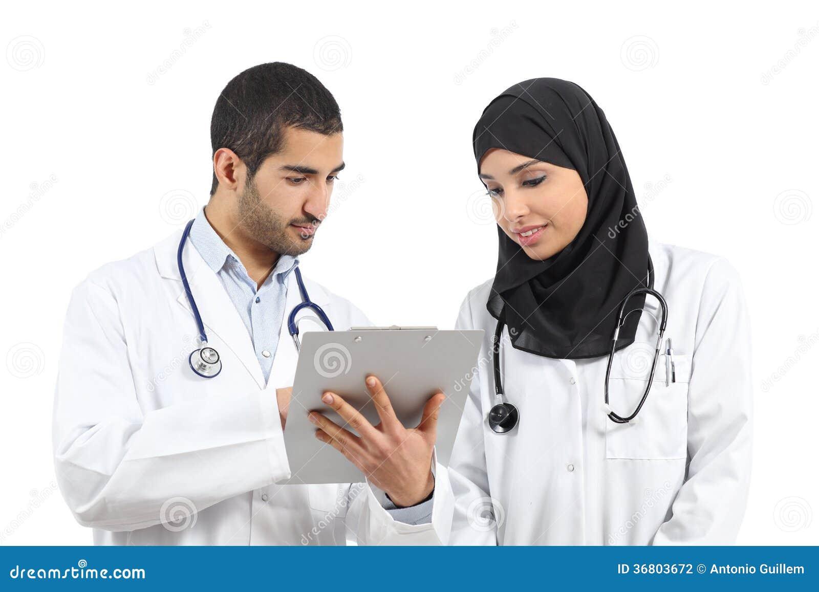 Saudier - arabdoktorer som diagnostiserar se en medicinsk historia