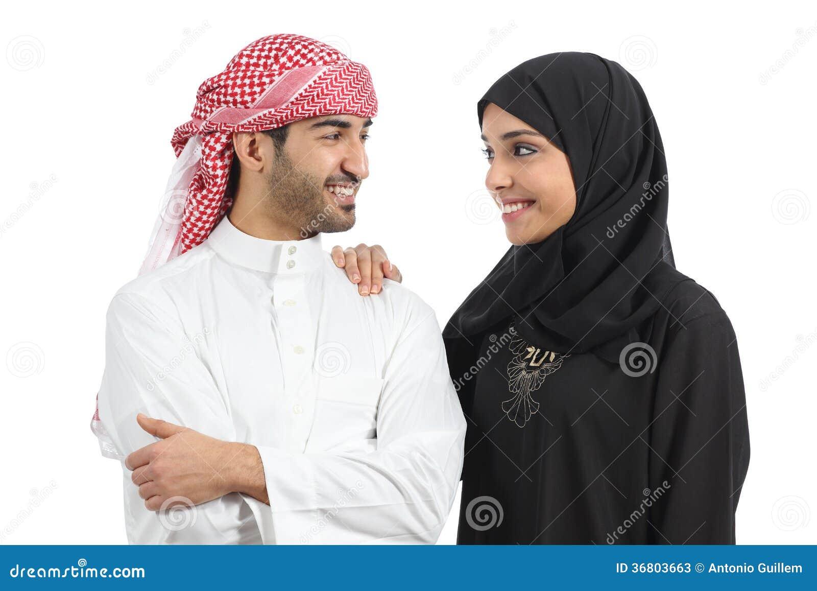 Saudier - arabisk parförbindelse som ser med förälskelse