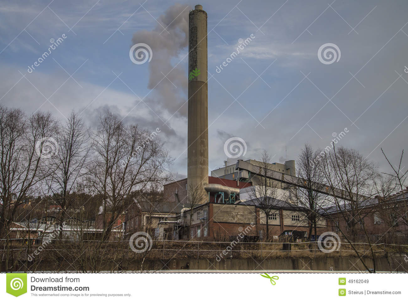 Paper Mill Parts : Paper mill plant and cardboard for recycling