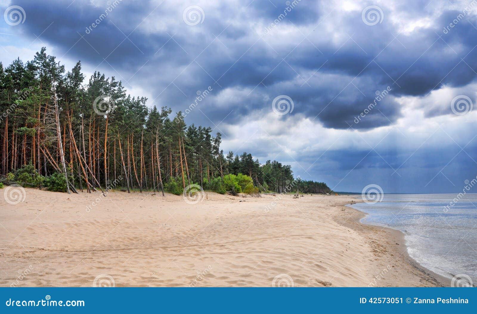 Saulkrasti, η θάλασσα της Βαλτικής, Λετονία