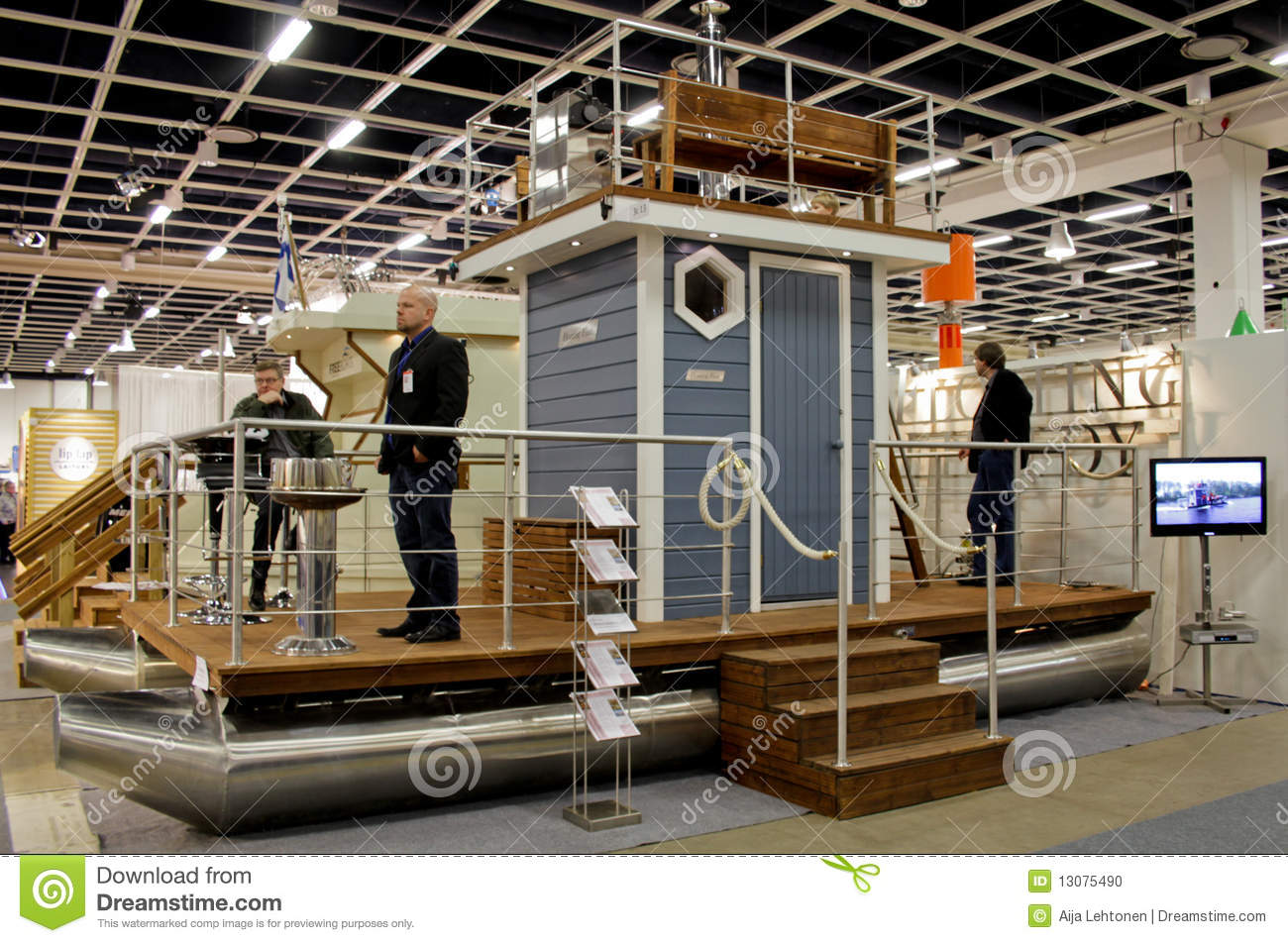 Sauna-Boat At Boat Show Editorial Image - Image: 13075490