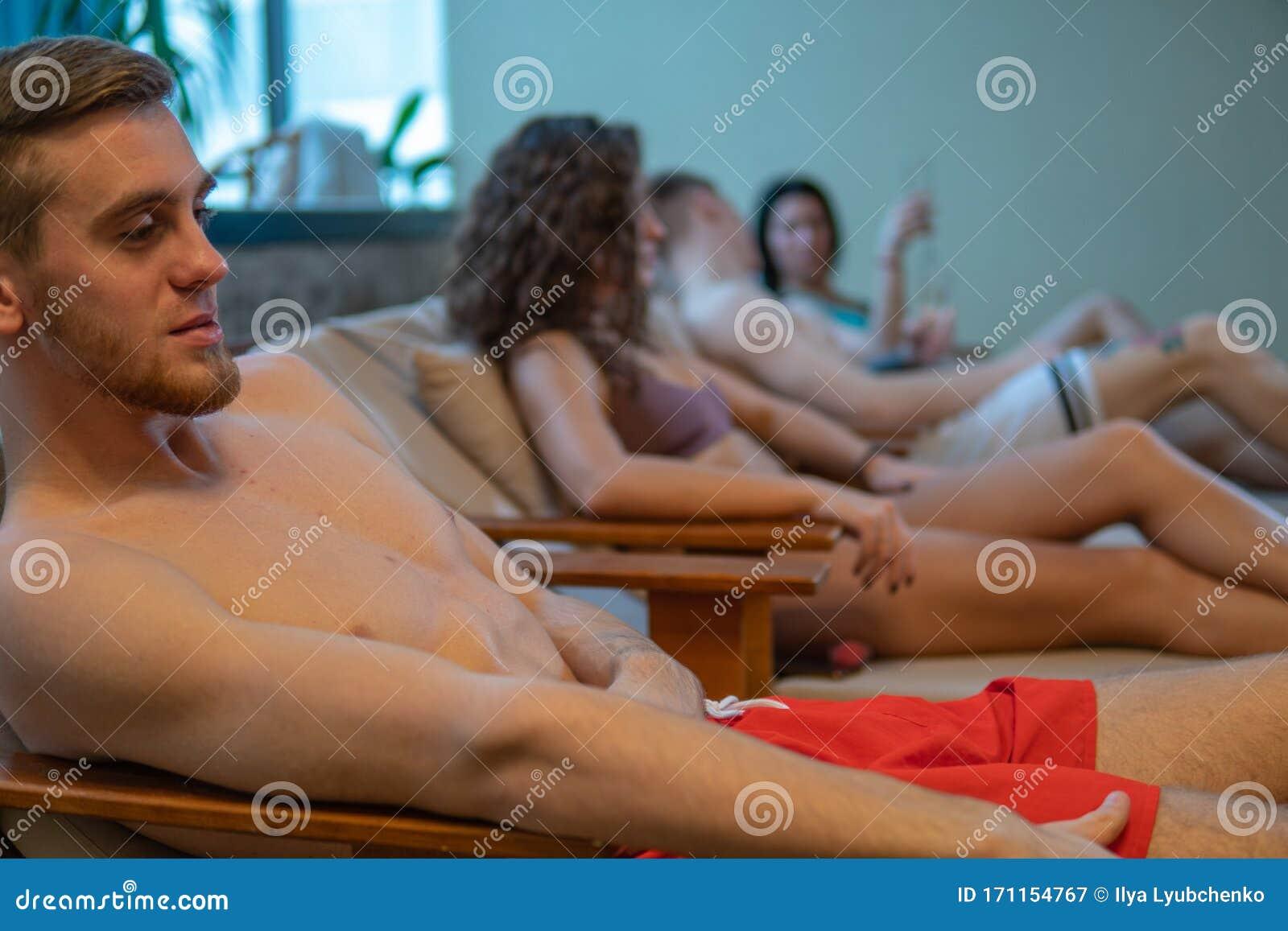 Boys in sauna