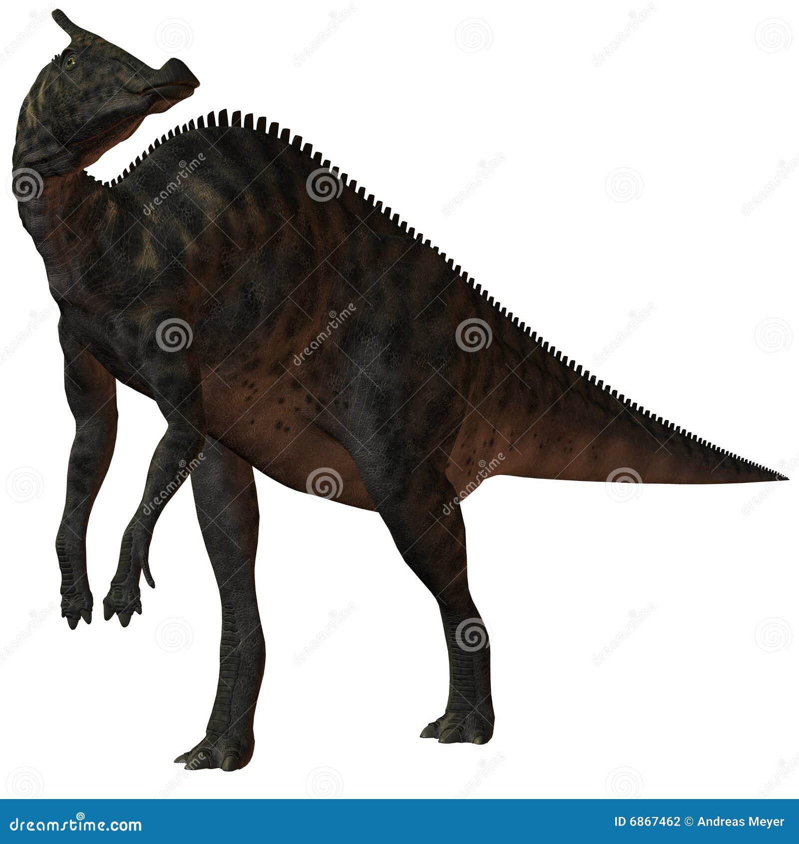 Saurolophus динозавра angustirostris 3d