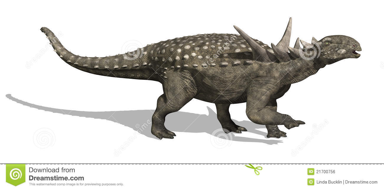The Sauropelta dinosaur lived during the Cretaceous period - 3d render    Sauropelta