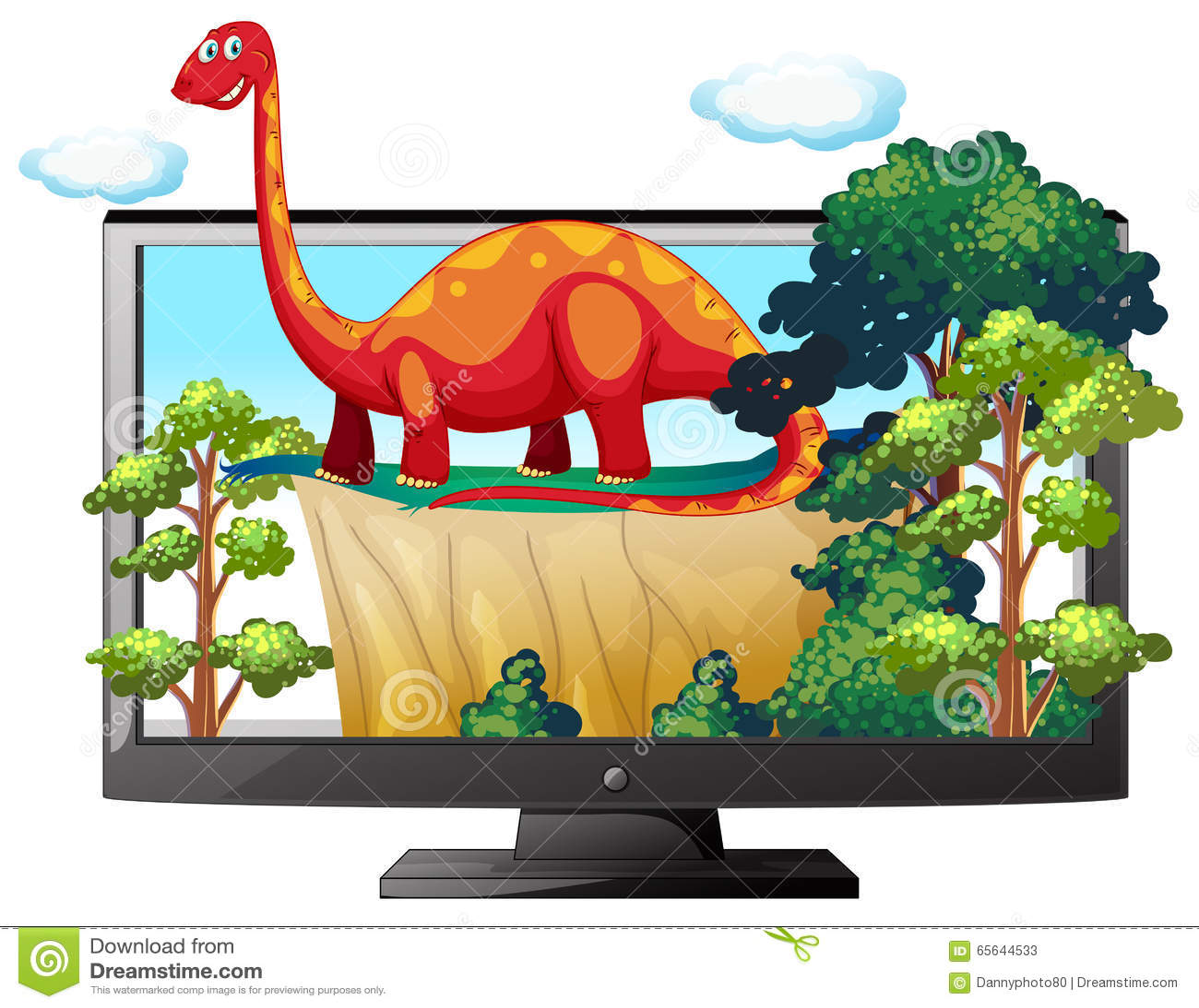 Sauropod sur le moniteur d ordinateur