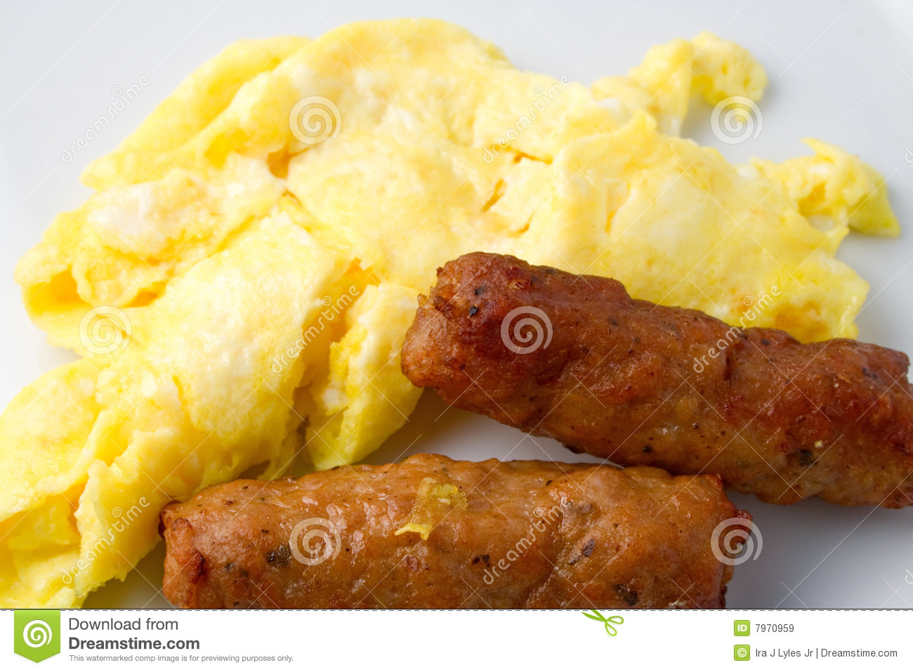 Sausage Eggs stock image. Image of sausages, breakfast ...