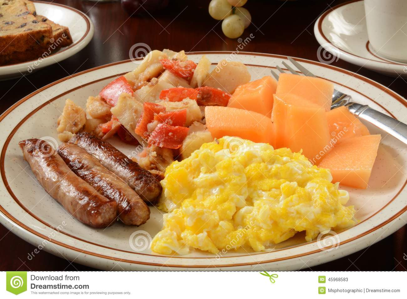 eggs and cantaloupe