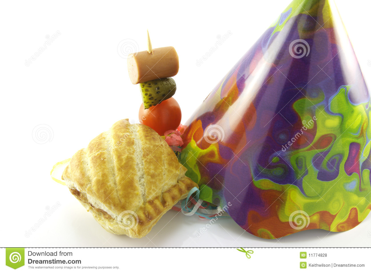 Sausage Roll and Party Hat