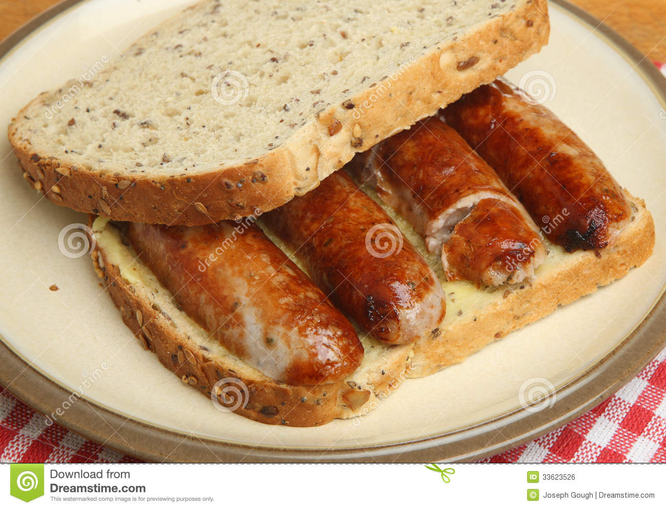 Sausage Sandwich Royalty Free Stock Image - Image: 33623526